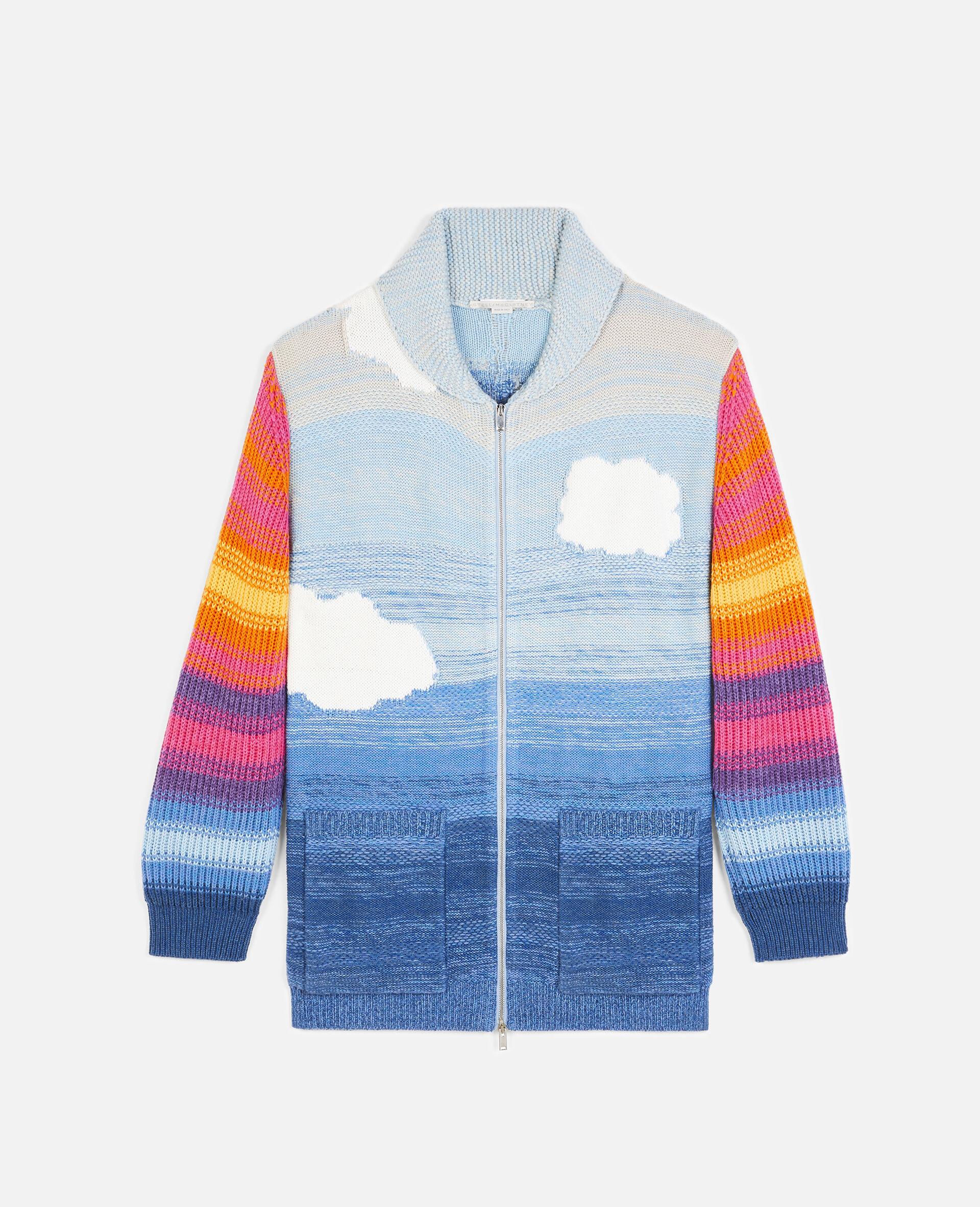Kind Intarsia Cardigan-Multicolour-large image number 0