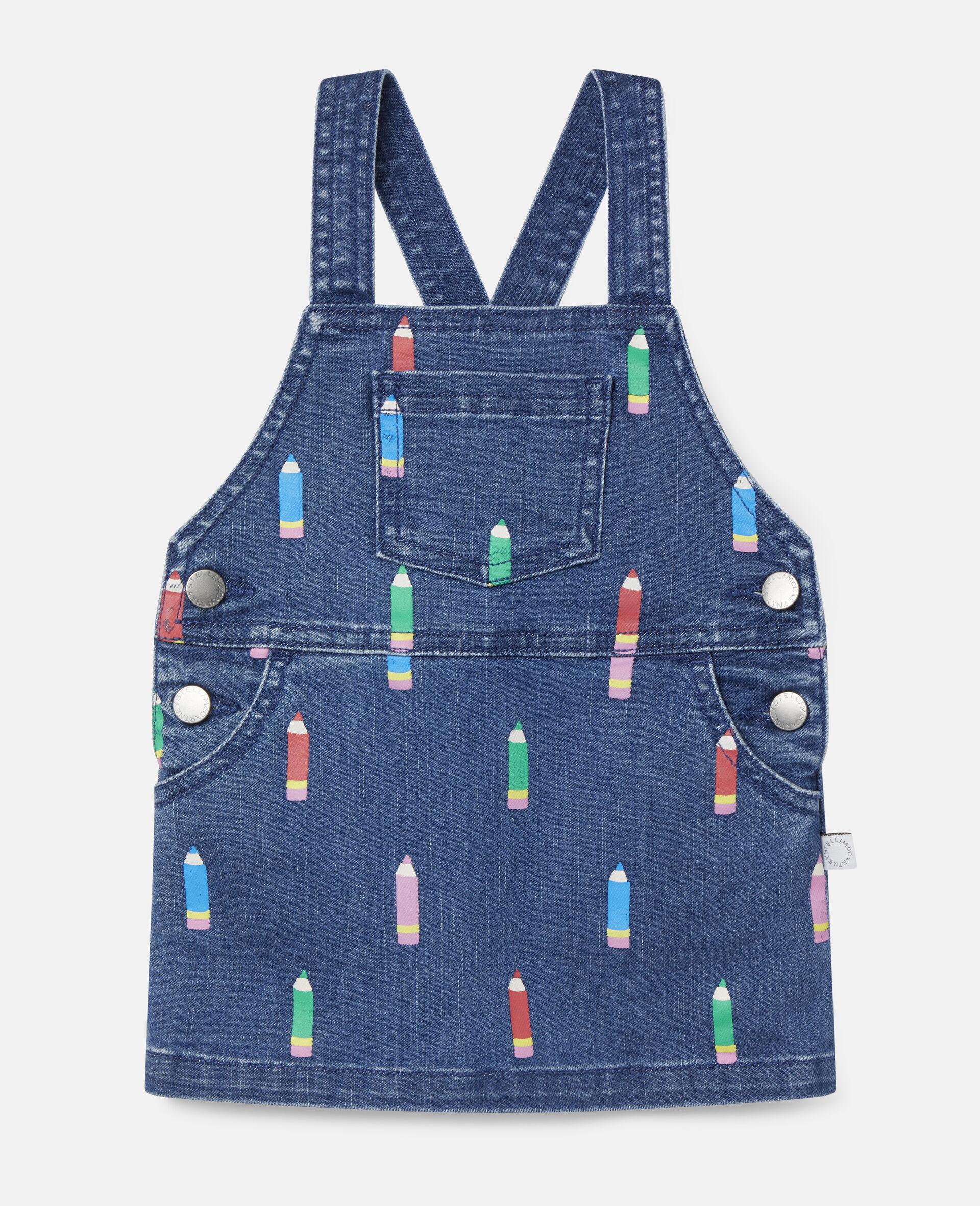 Pencil Denim Dress-Blue-large image number 0