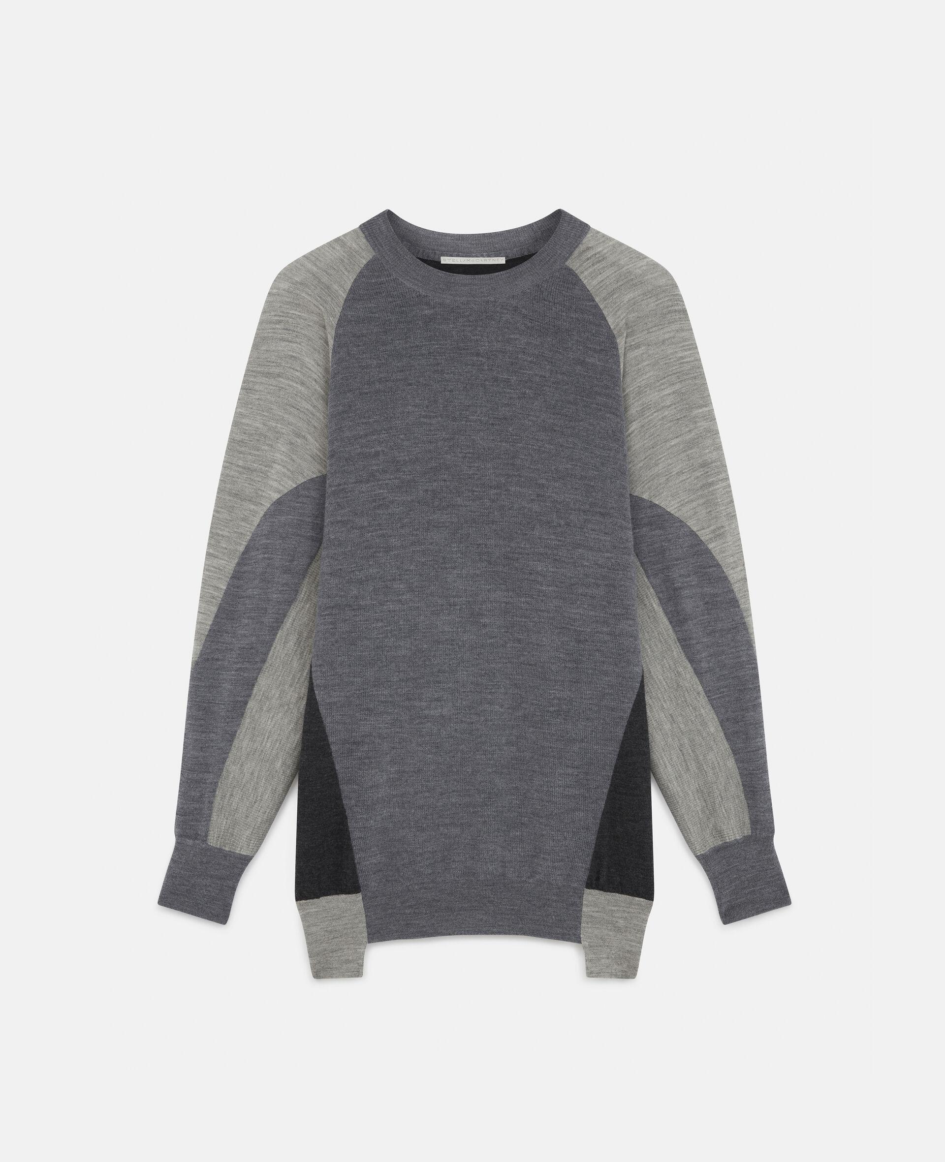 Oversized Knit Sweater-Grey-large image number 0