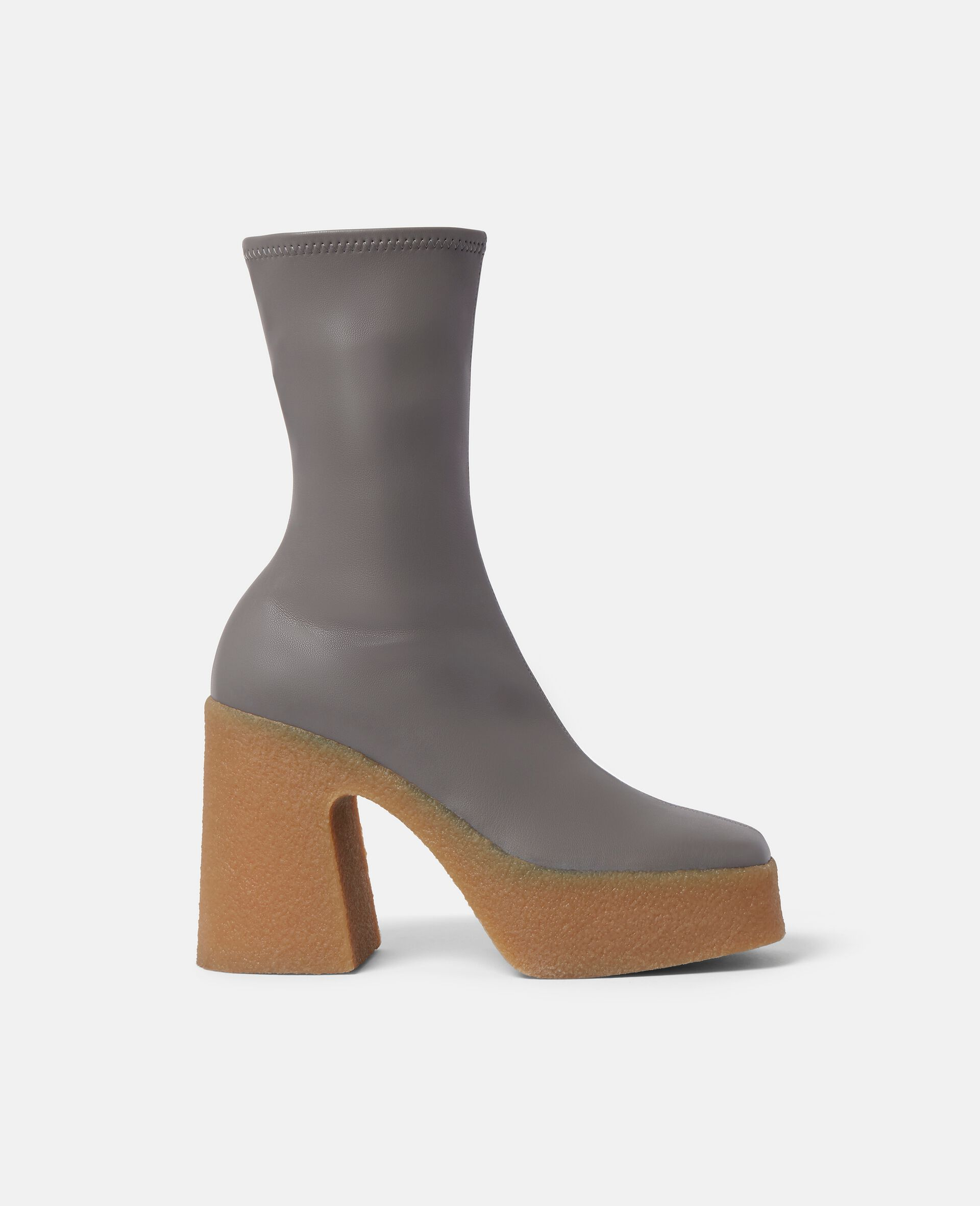 Chunky Ankle Boots-Grey-large image number 0