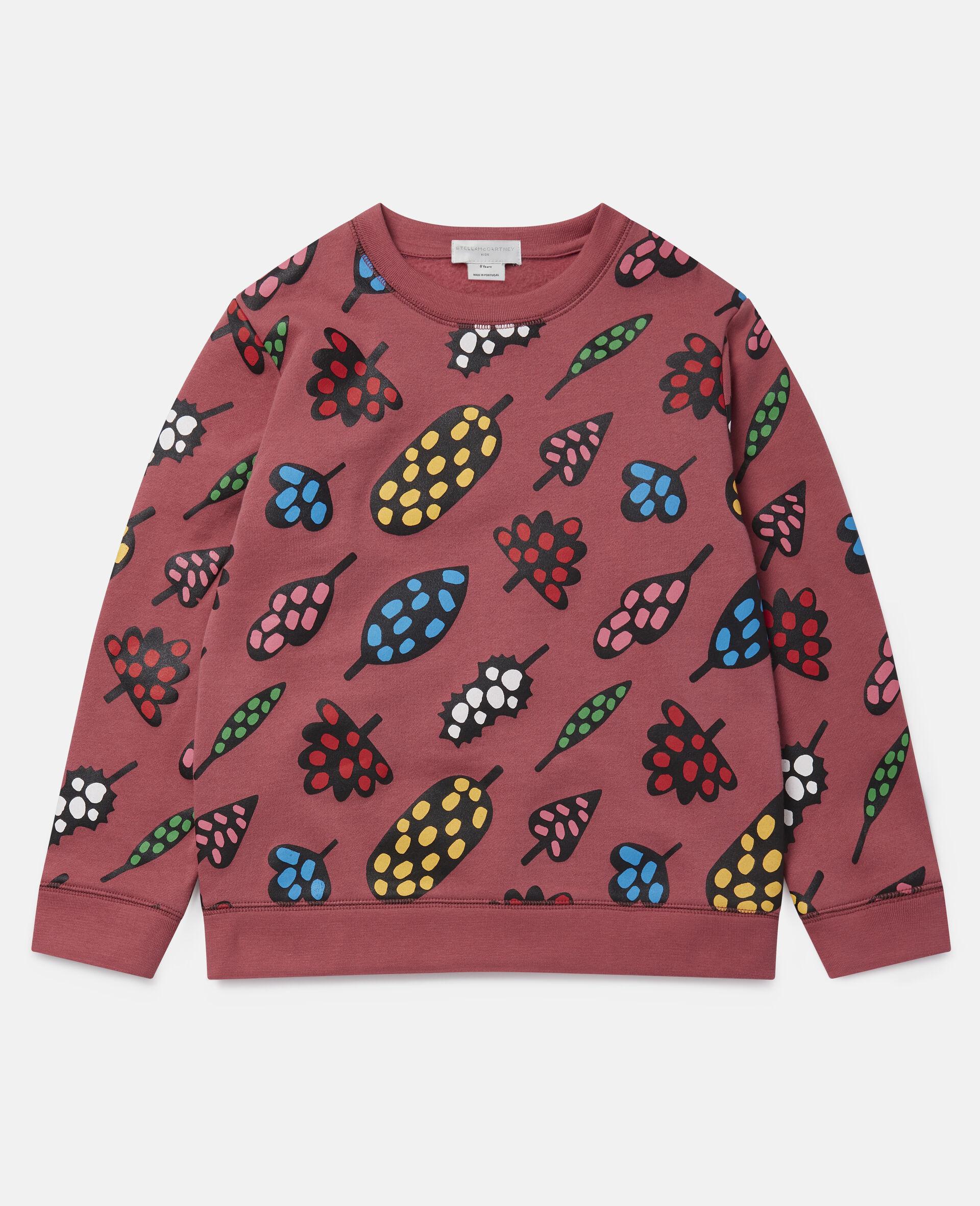 Spotty Leaves Cotton Fleece Sweatshirt -Multicolour-large image number 0
