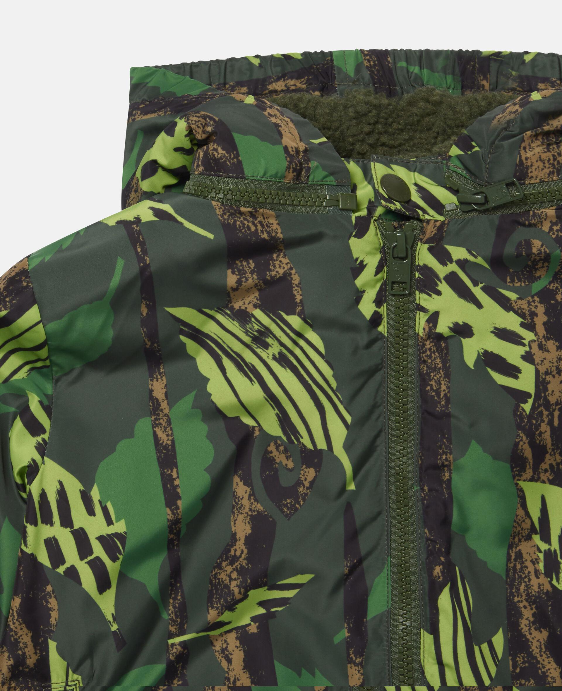 Leaves Hooded Jacket-Multicolour-large image number 1