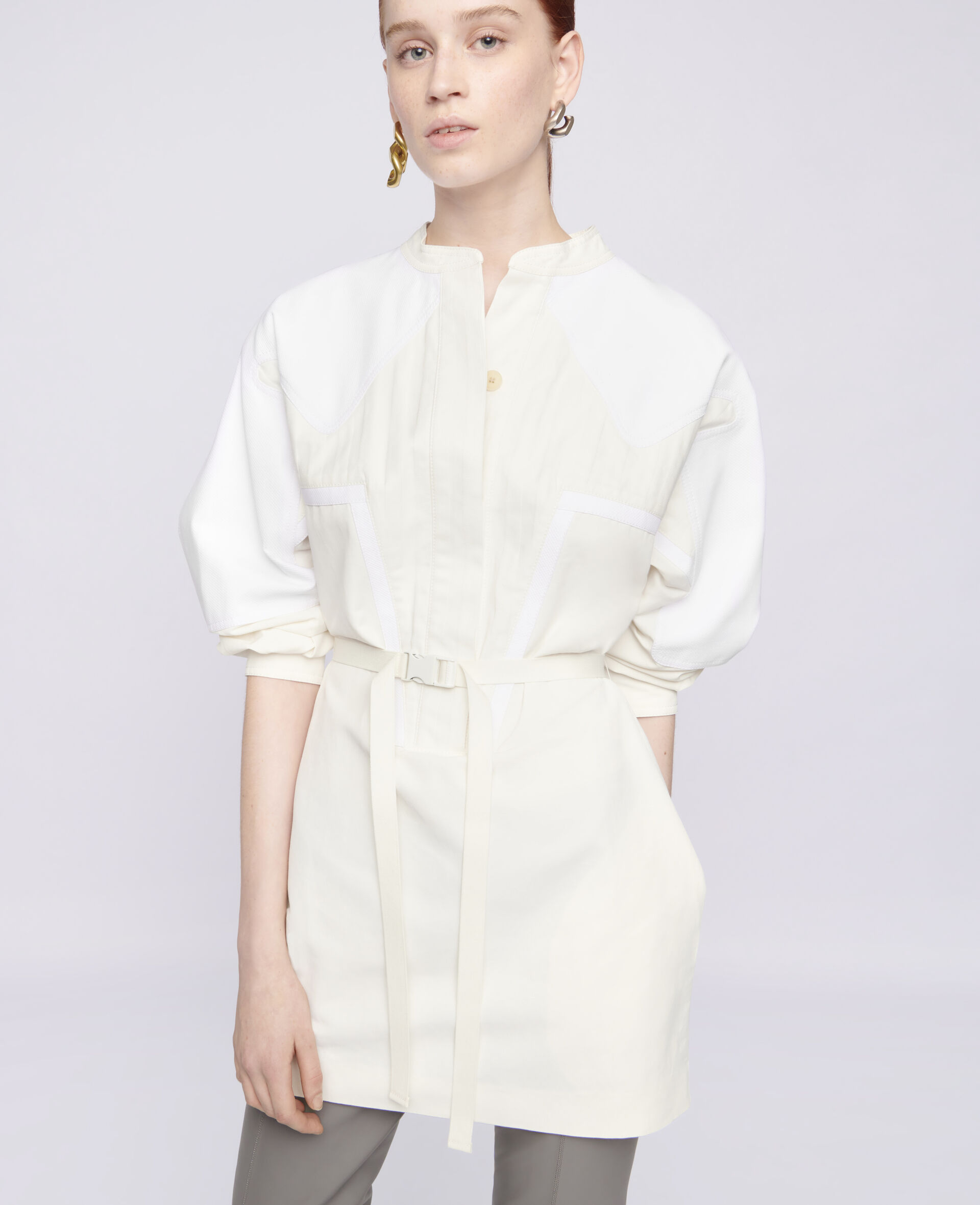 Liana Mini Dress-White-large image number 3