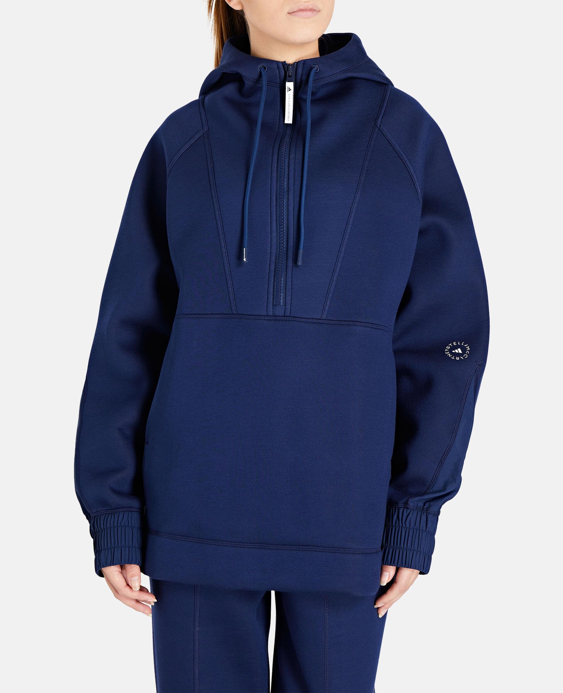 Blue Half-zip Hoodie-Blue-large image number 4