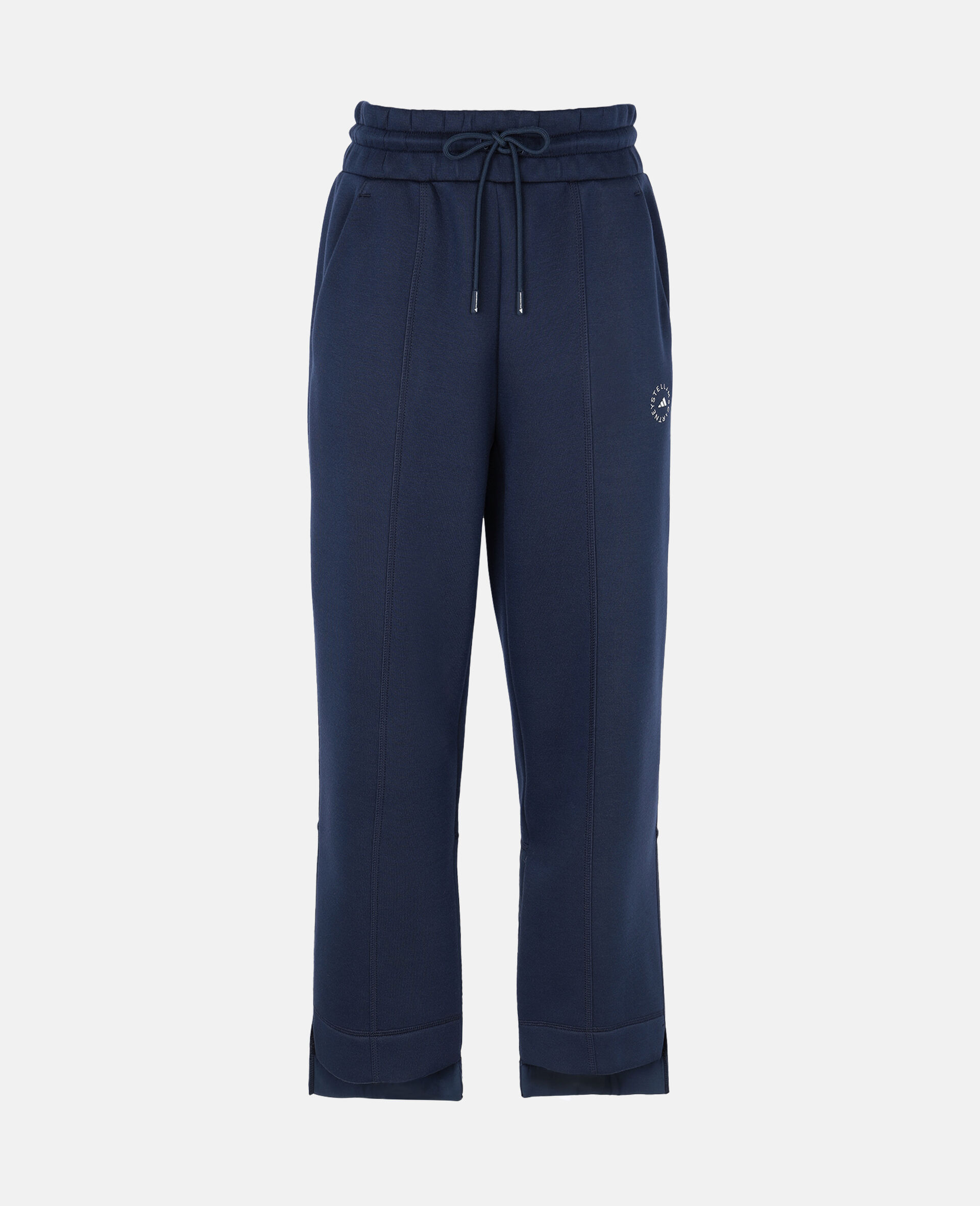 Blue Tapered Sweatpants-Blue-large image number 0