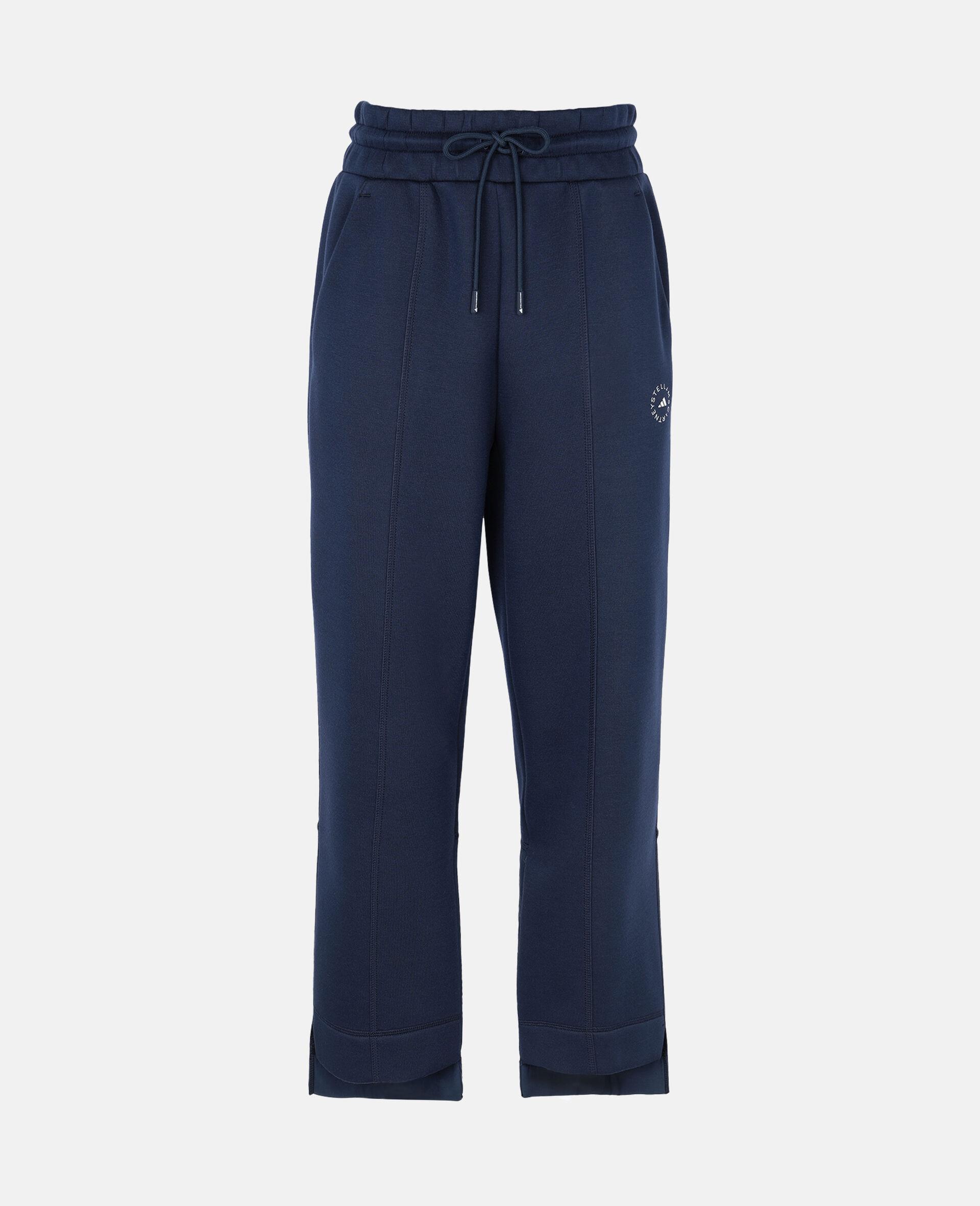 Blue Tapered Sweatpants-Blue-large image number 0