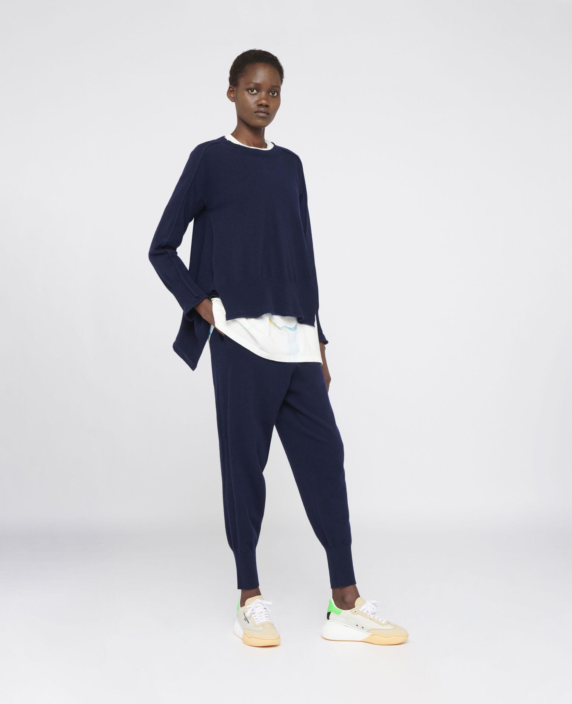 Light Cashmere Pants-Blue-large image number 1