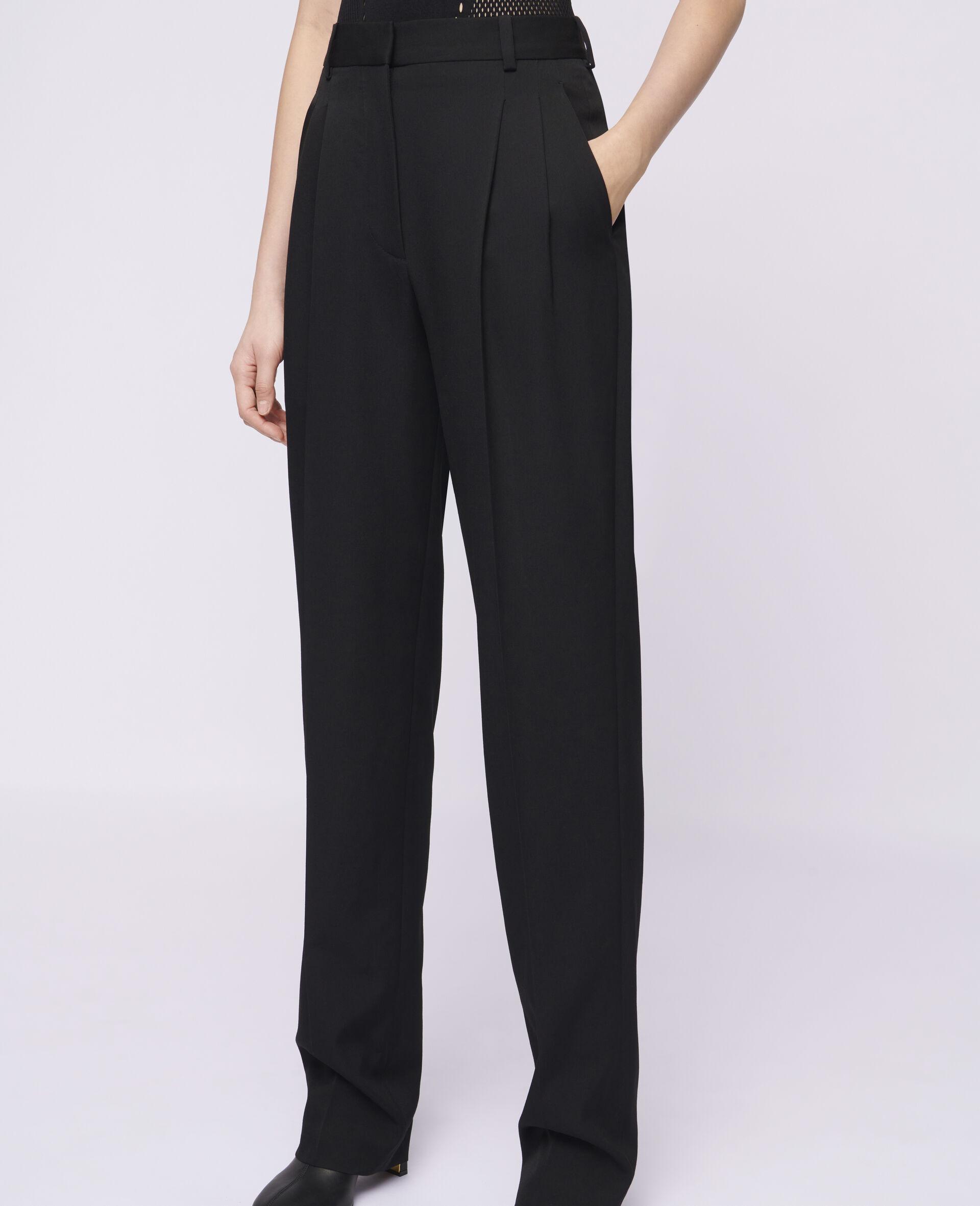 Pantaloni Lara in Lana-Nero-large image number 3