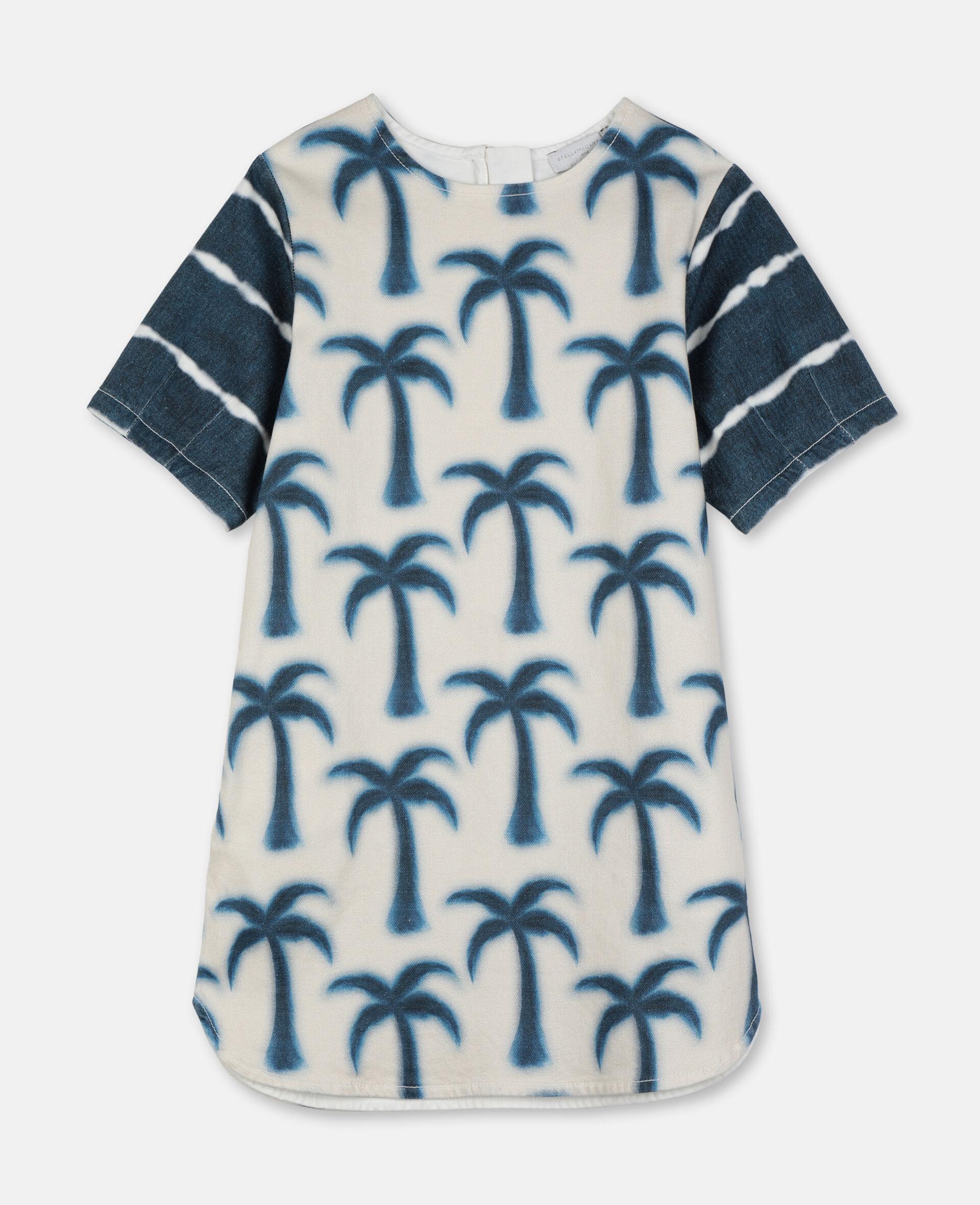 Palms Denim Dress-Blue-large image number 0