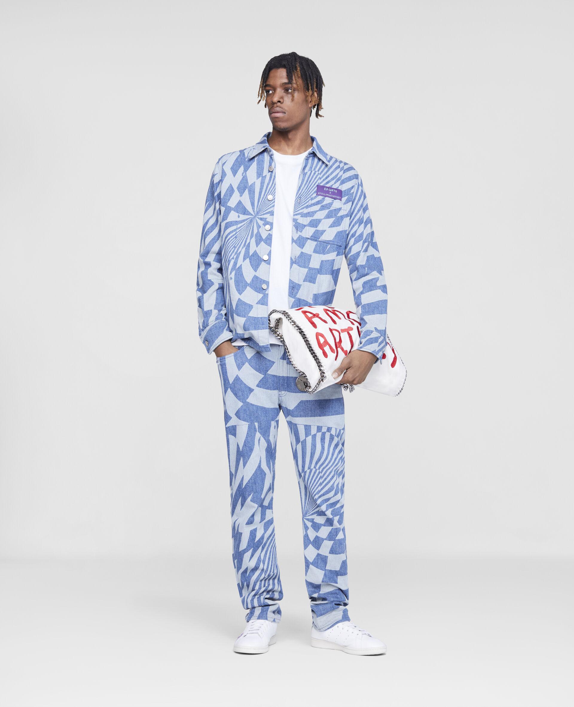 Jeans in Denim Psichedelici Ed Curtis-Blu-large image number 1
