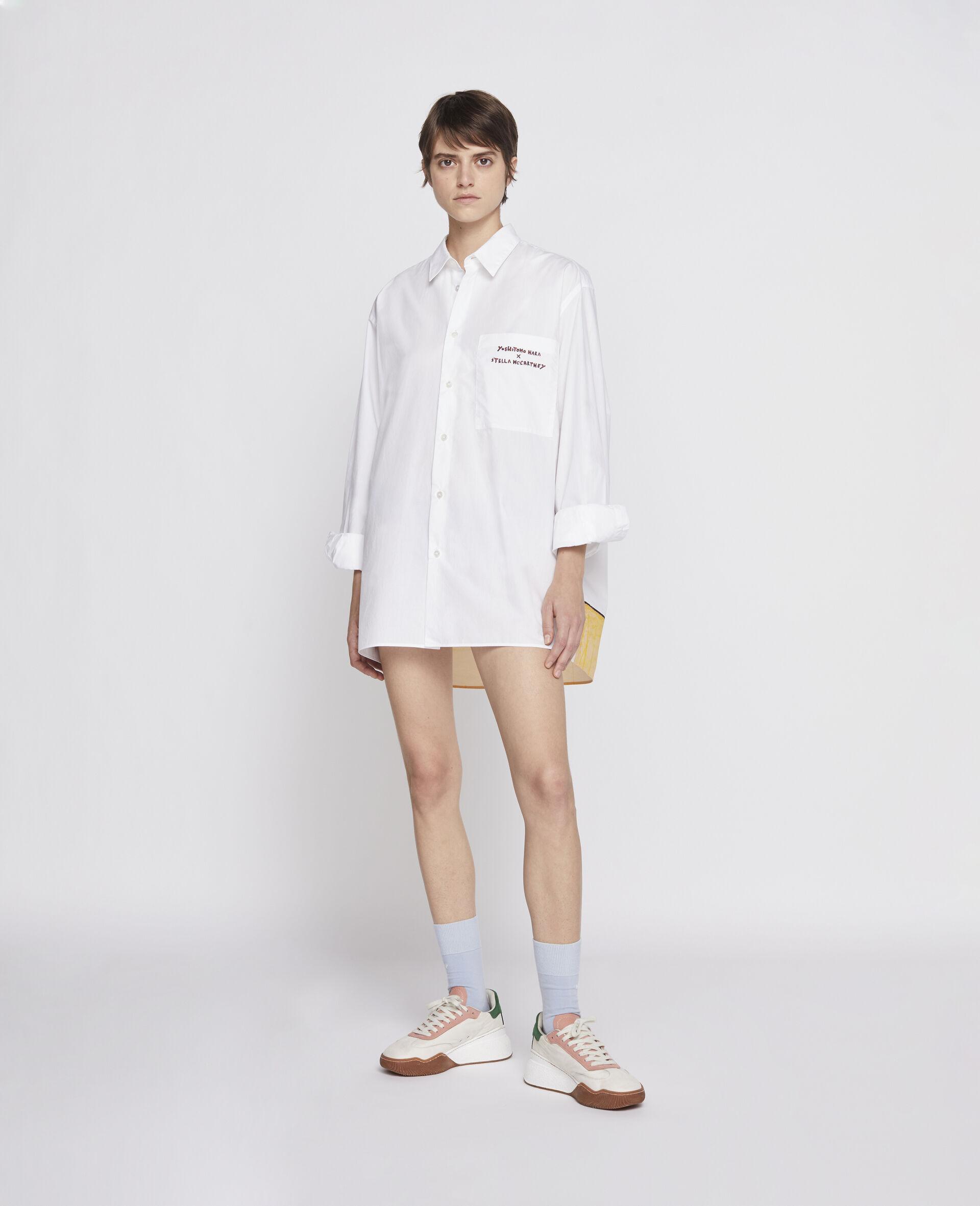 Nara Cotton Shirt-White-large image number 3