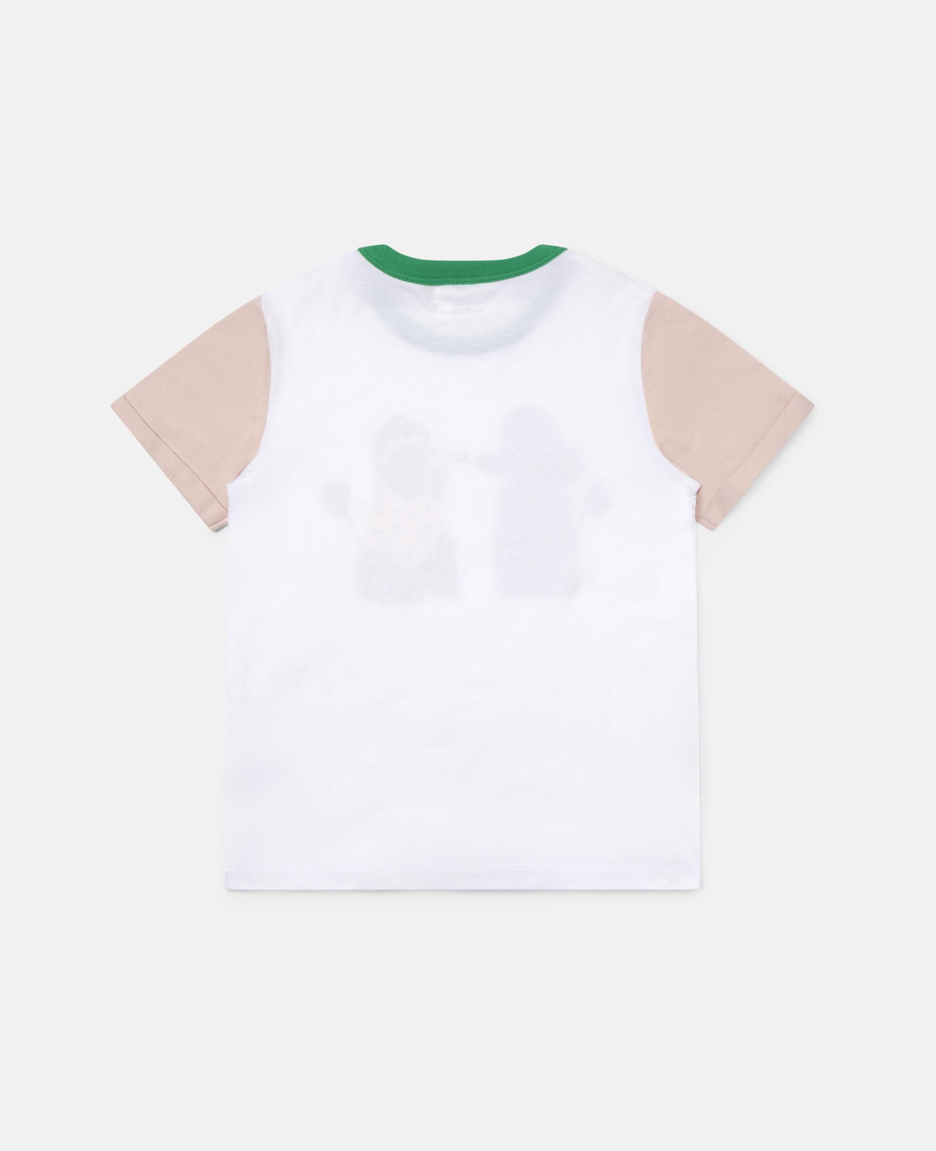 T-shirt en coton motif caniches amoureux-Blanc-large image number 3