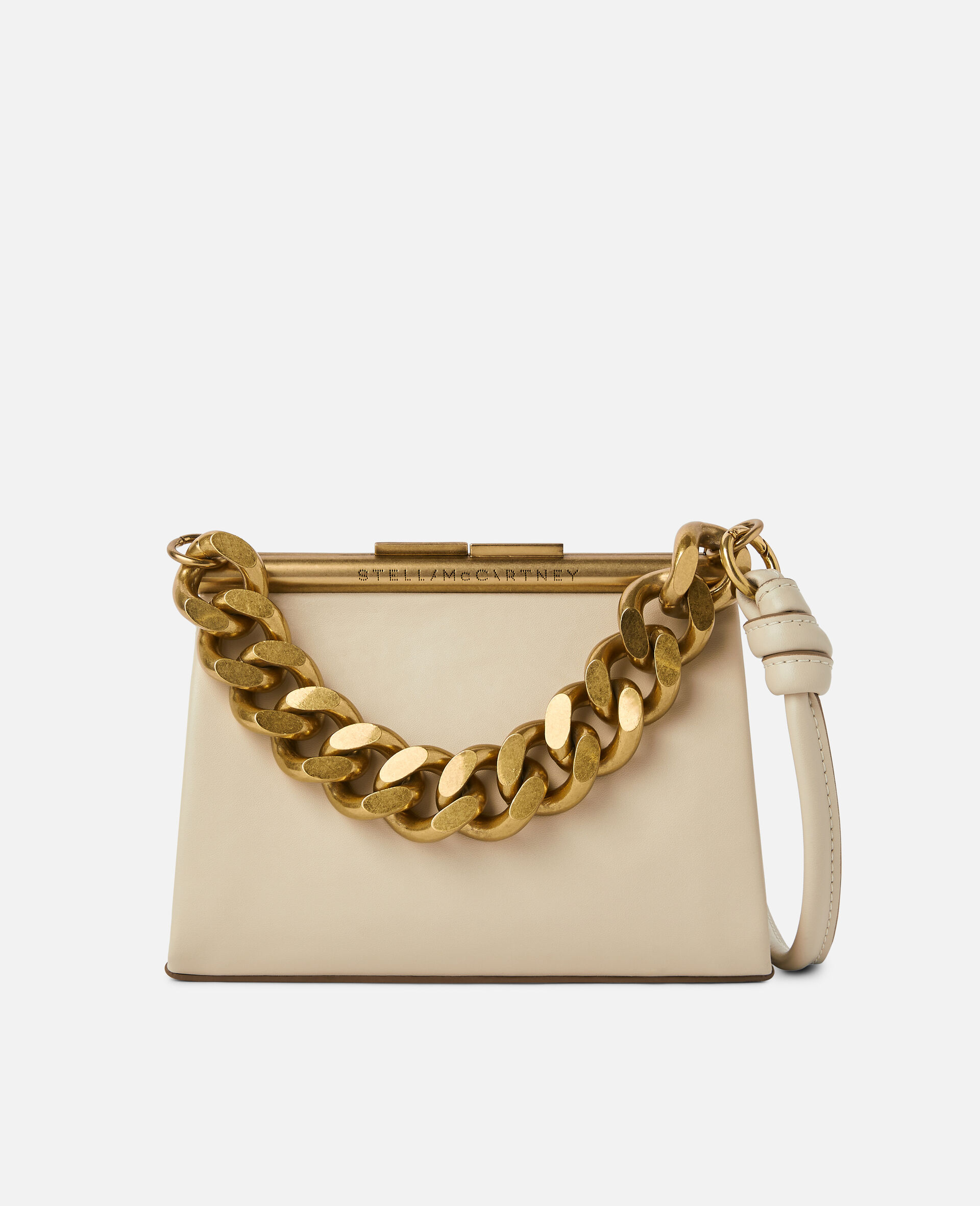 Petit sac avec bandoulière chaîne épaisse-Blanc-large image number 0