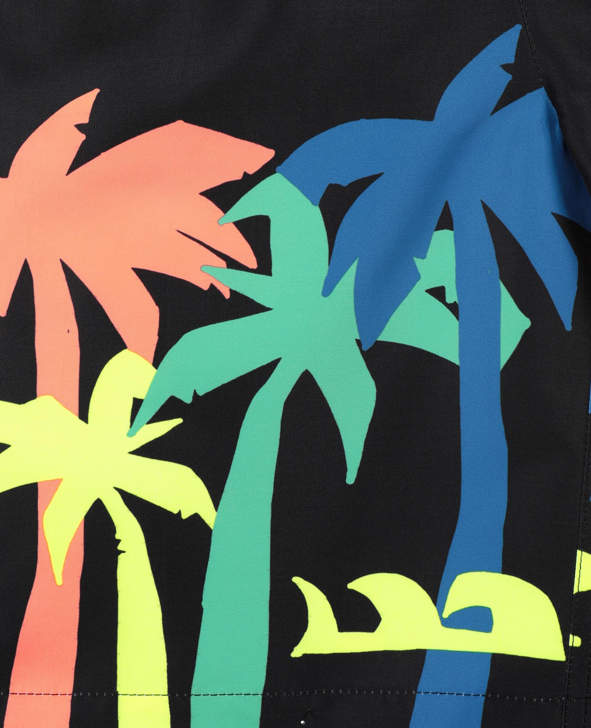 Badeshorts mit Palmen-Print-Schwarz-large image number 2