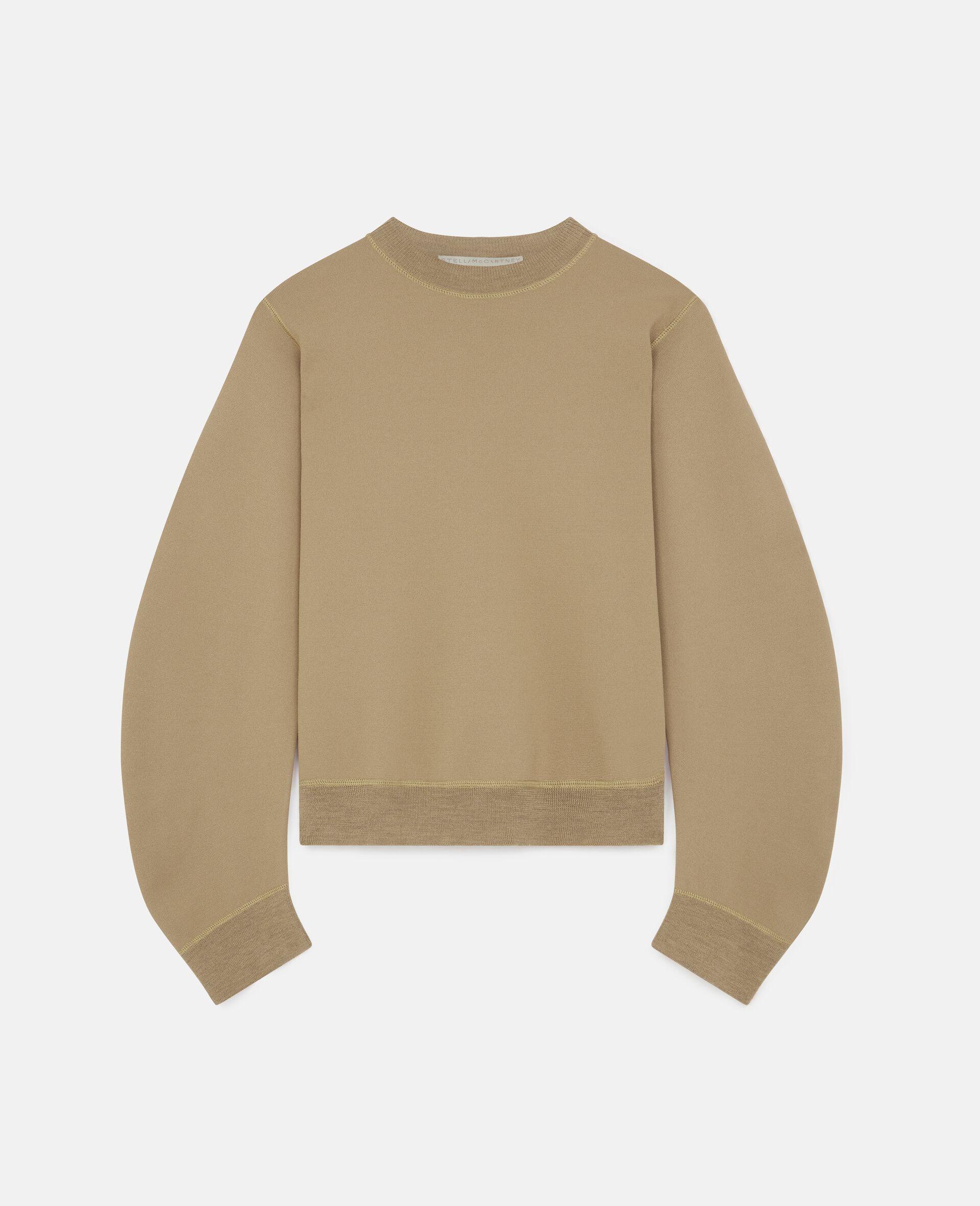 致密针织套衫-棕色-large image number 0