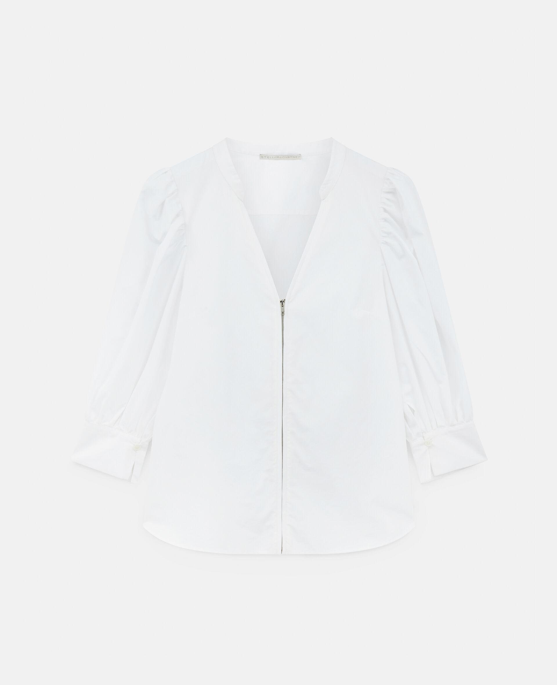 Rose Cotton Shirt-White-large image number 0