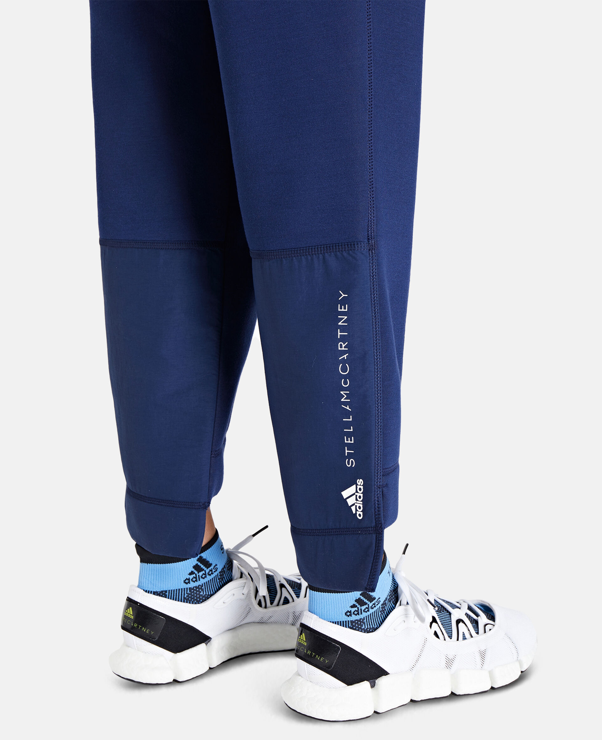 Blue Tapered Sweatpants-Blue-large image number 3