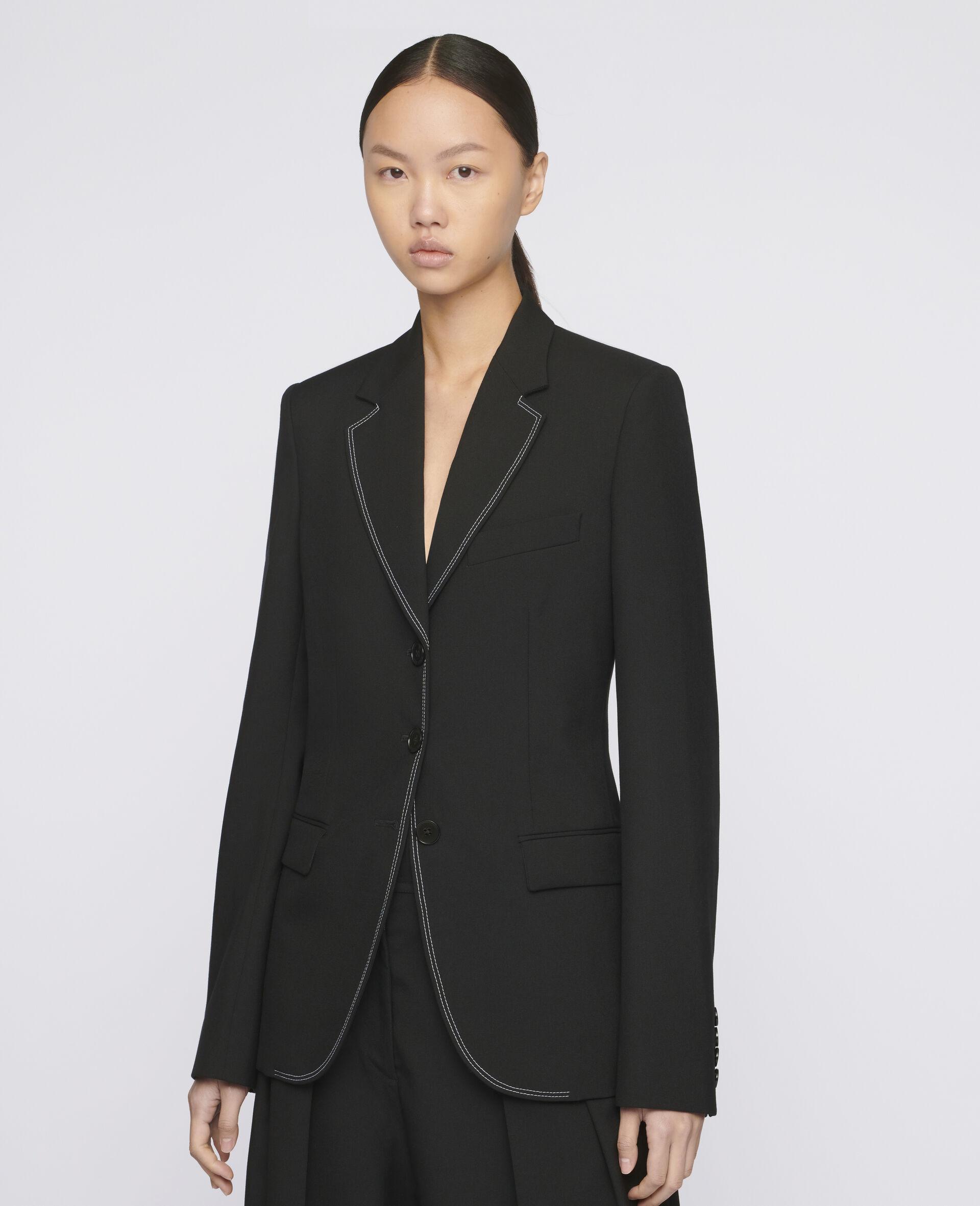 Ada Tailored Jacket -Black-large image number 3