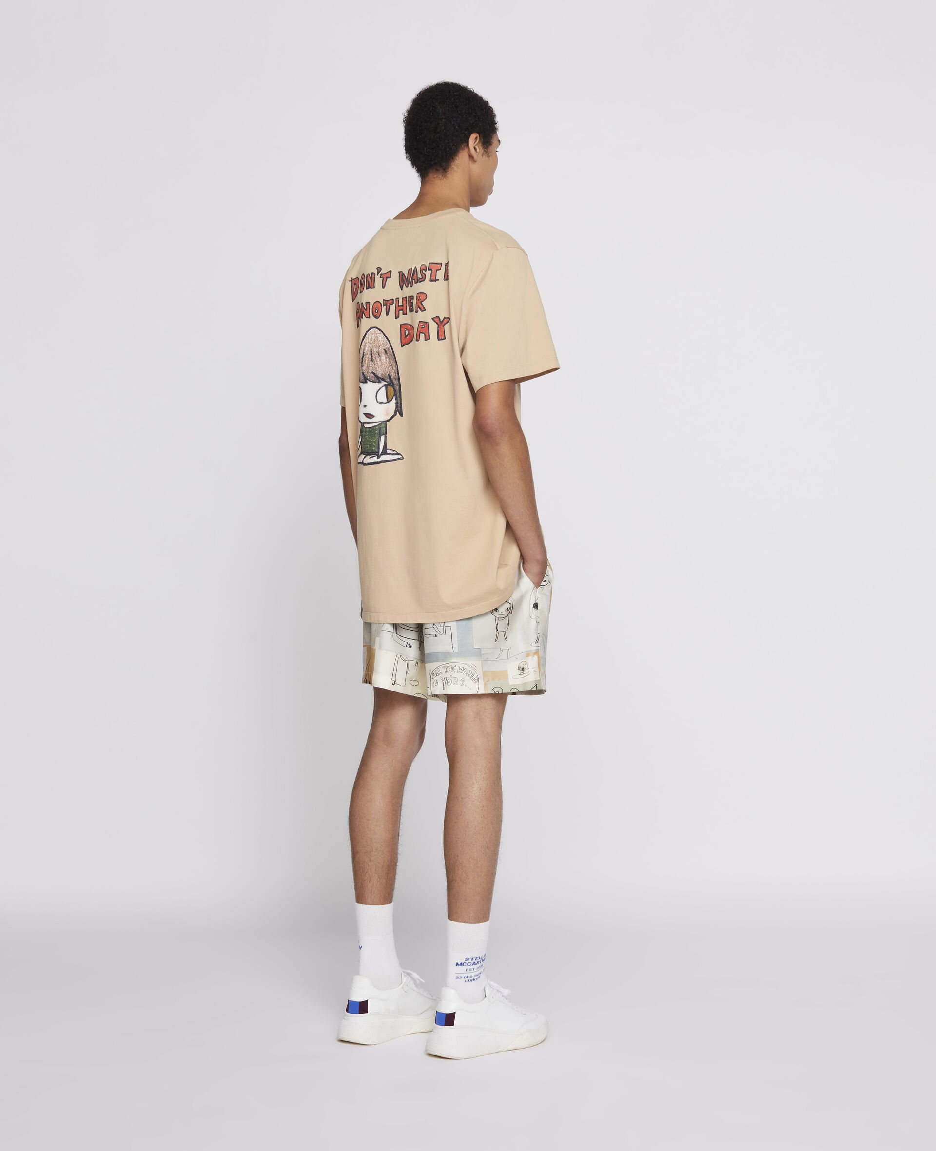 Nara 有机棉 T 恤 -棕色-large image number 2