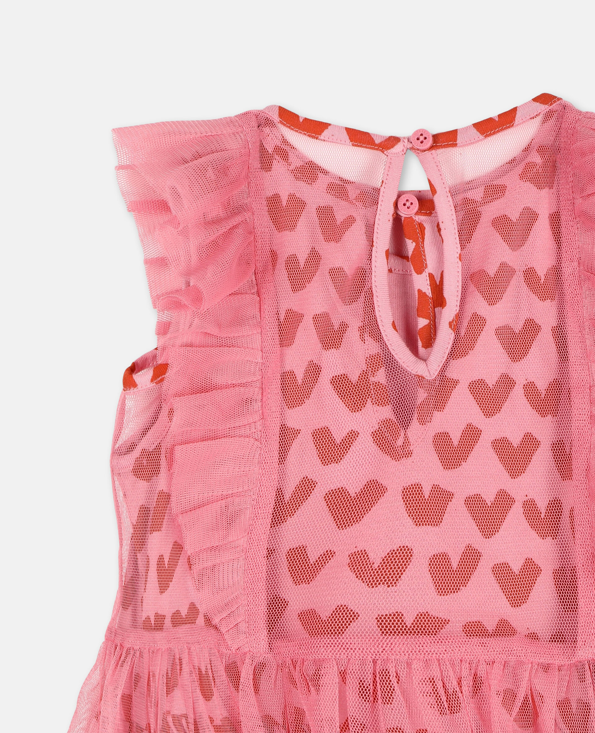 Hearts Tulle Dress-Pink-large image number 2