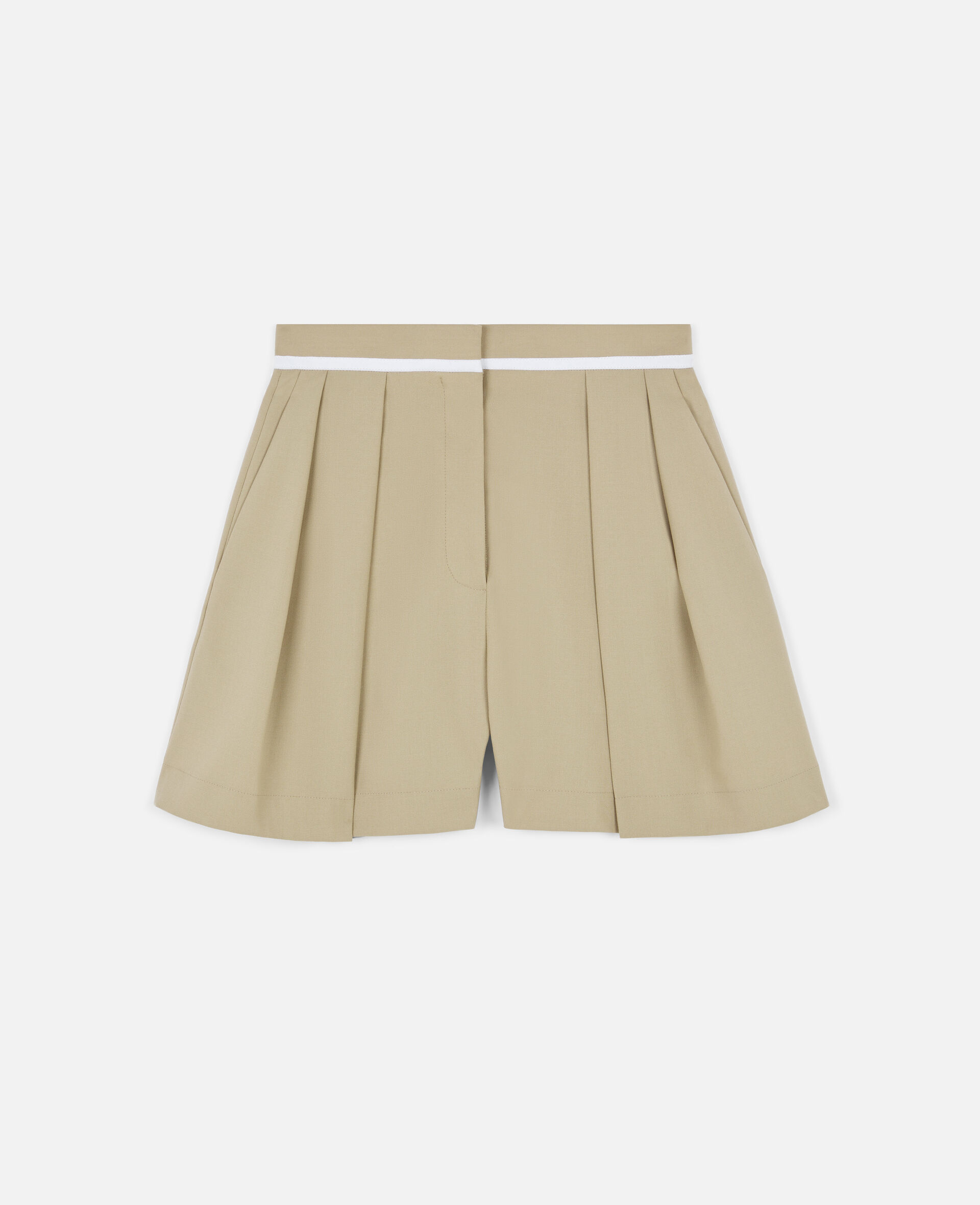 Ariel Wool Shorts -Beige-large image number 0
