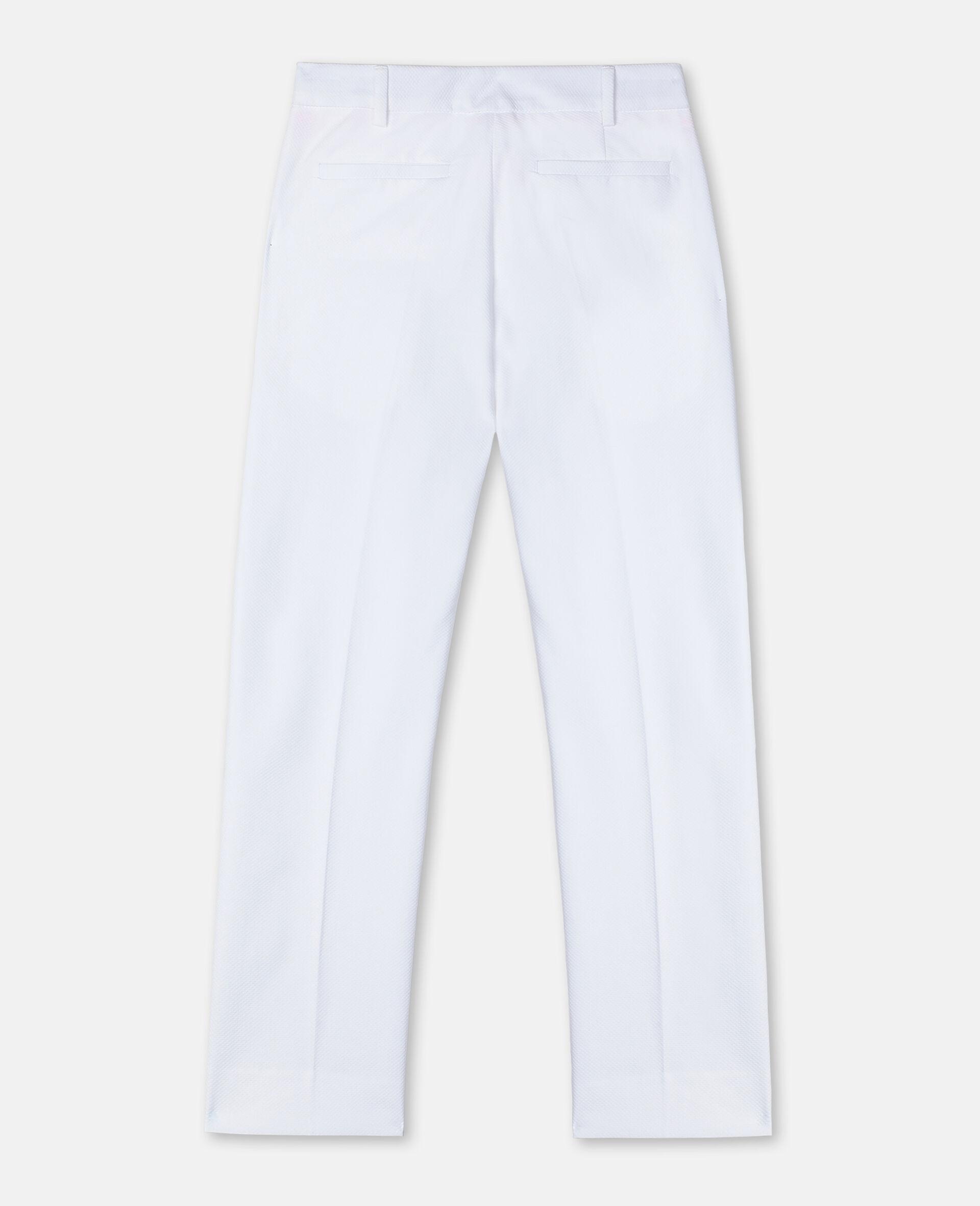 棉质珠地布西装裤-白色-large image number 3