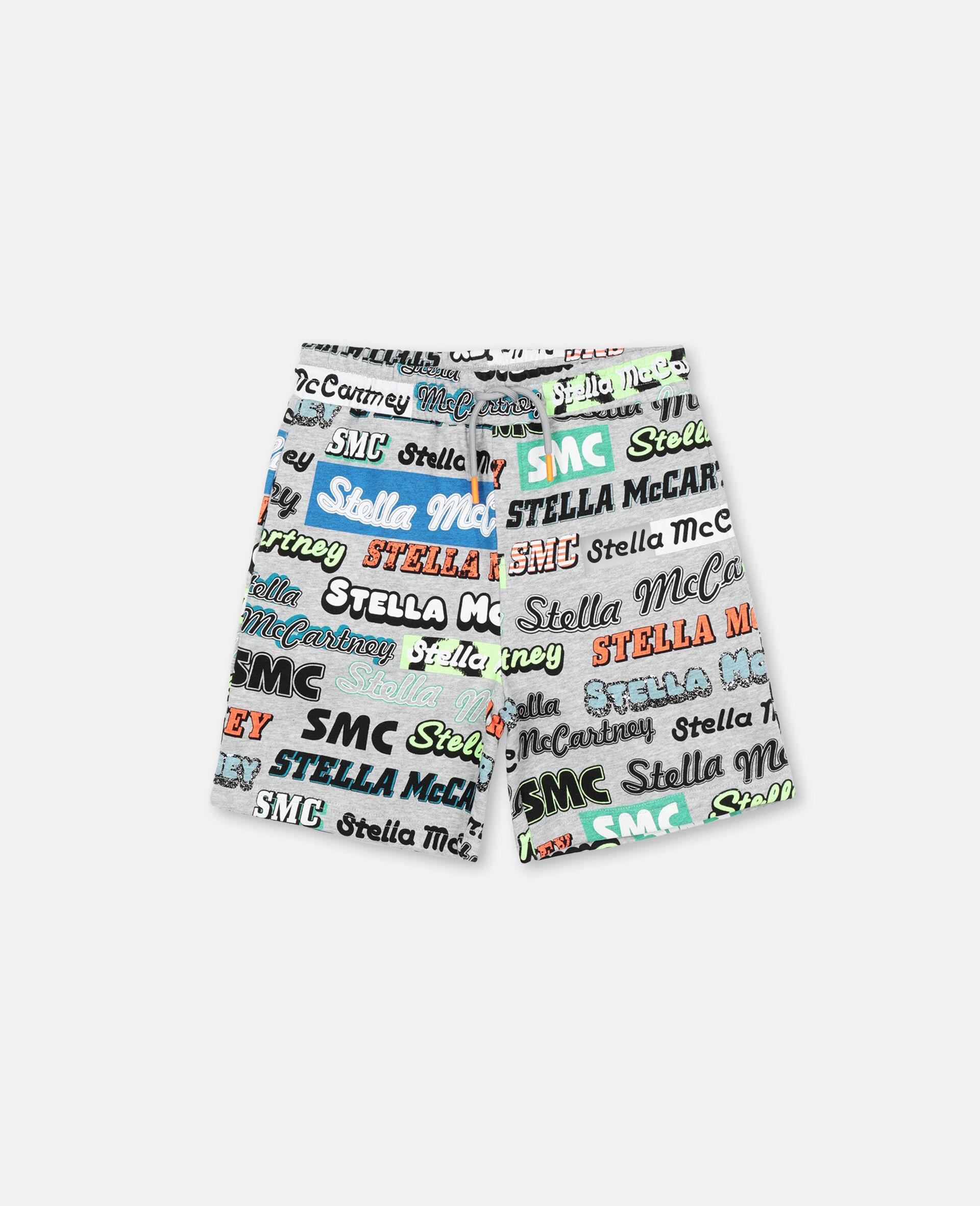 Sportliche Baumwoll-Shorts mit Logo -Grau-large image number 0