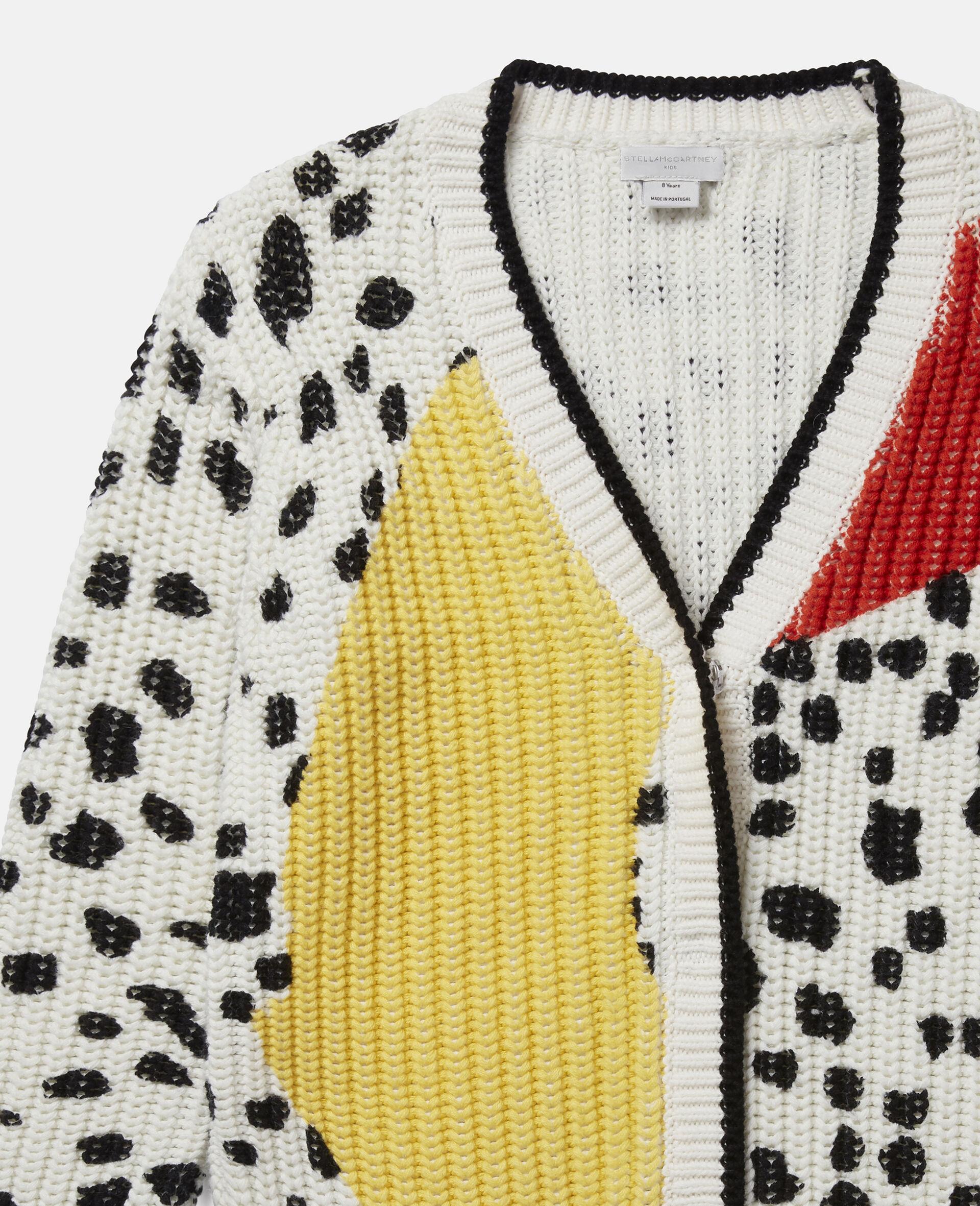 Dalmatian Spots Knit Cardigan -Multicoloured-large image number 1