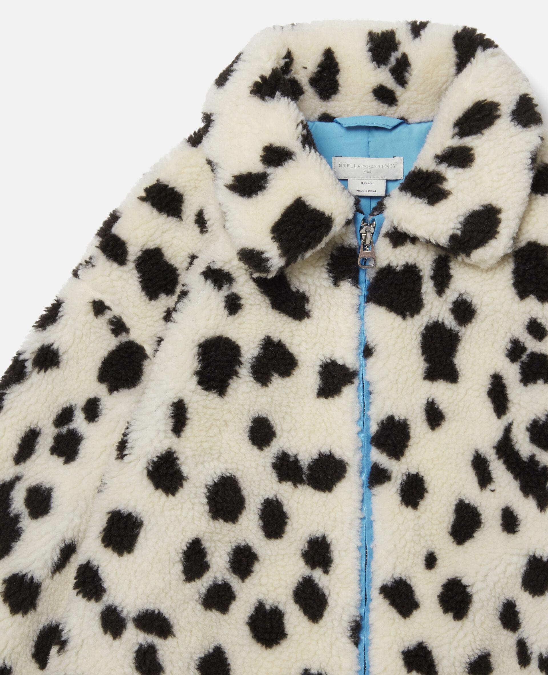 Manteau en Teddy motif dalmatien-Blanc-large image number 1
