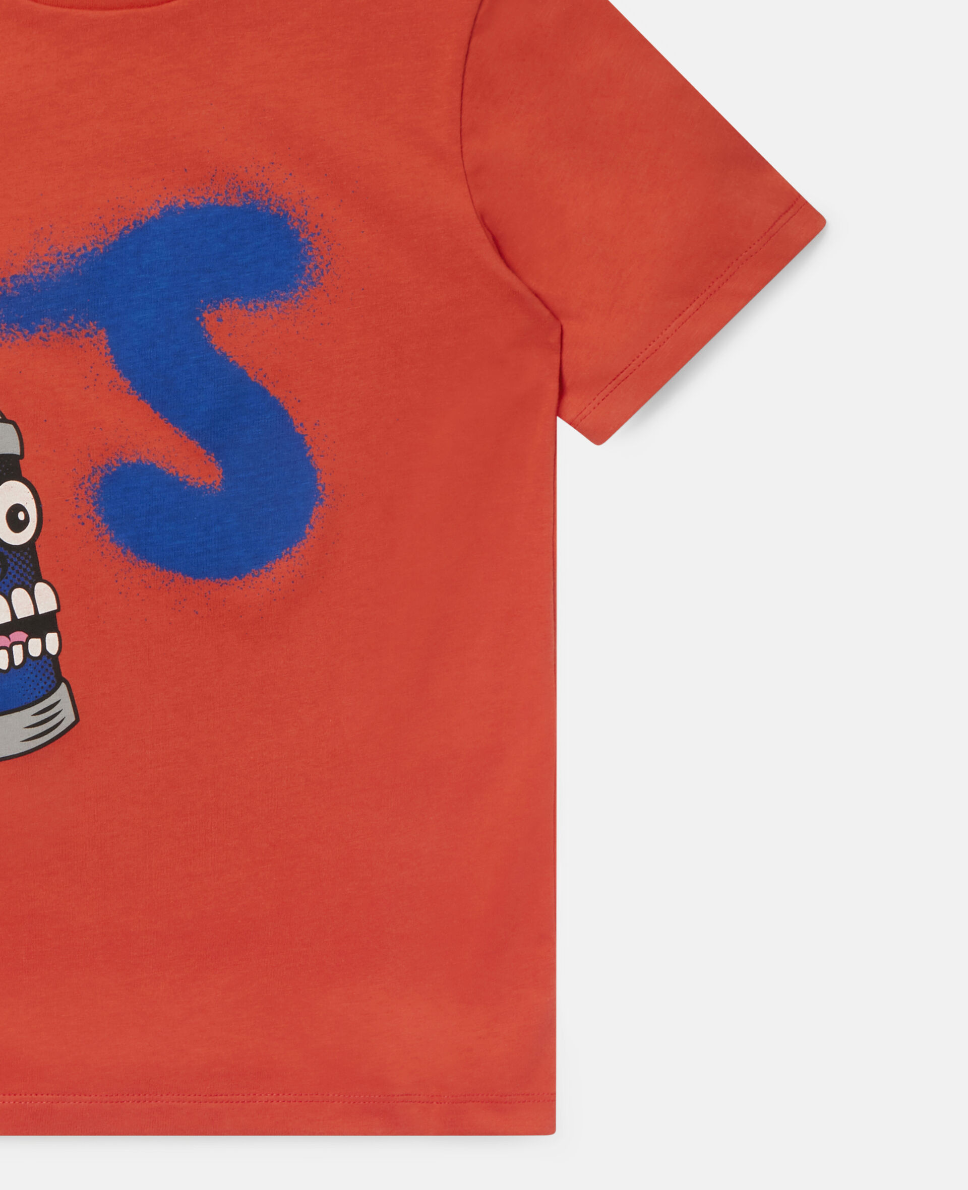 Spray Can Cotton T-shirt-Red-large image number 1