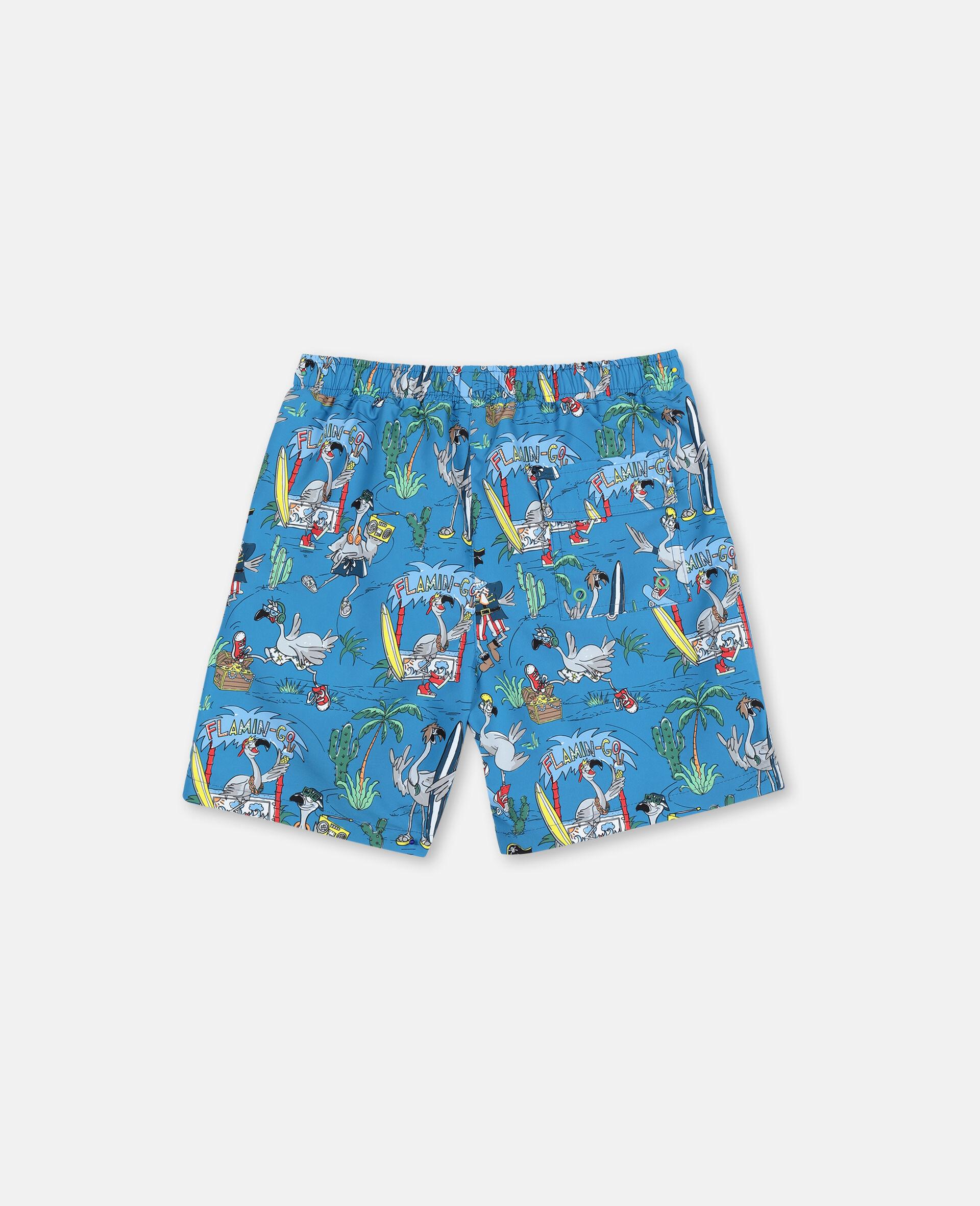 Flamingo Land Swim Shorts -Blue-large image number 4