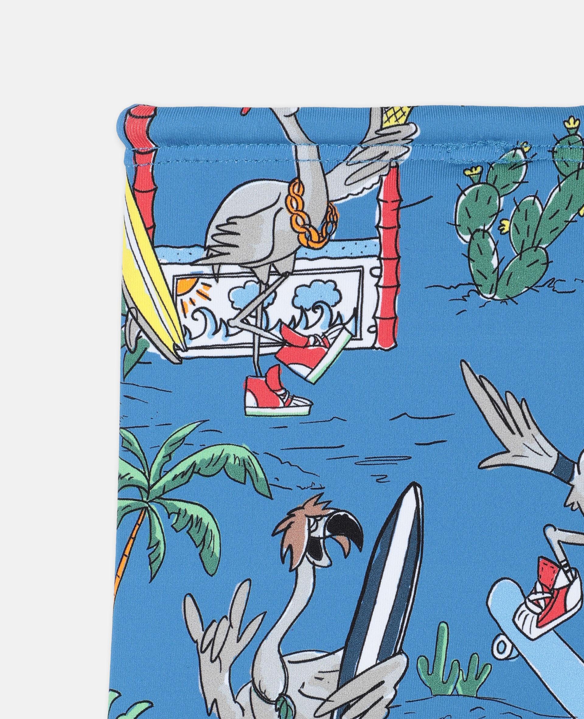 Flamingo Land Swim Shorts -Blue-large image number 2