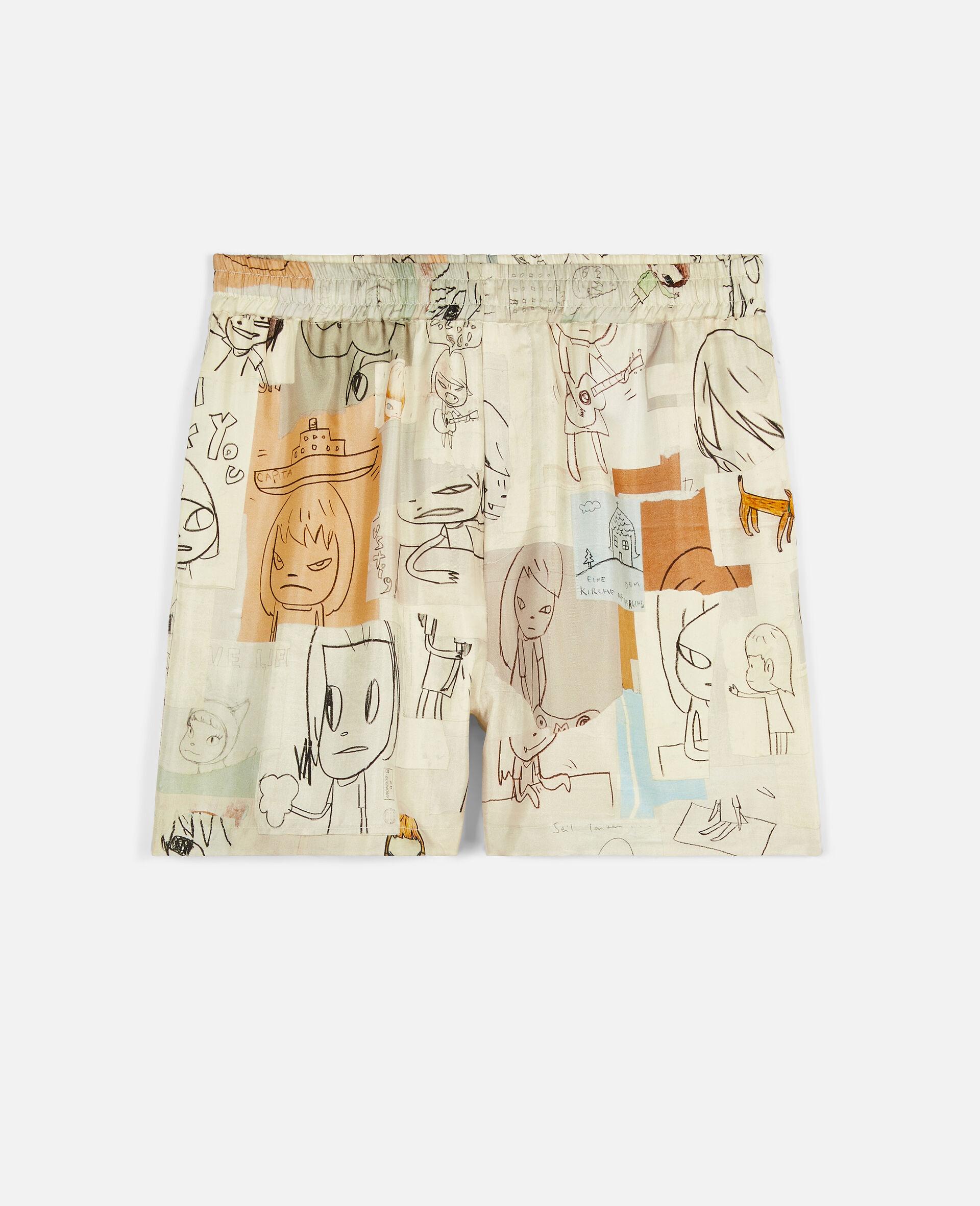 Nara Timothy Silk Shorts-Multicolour-large image number 0