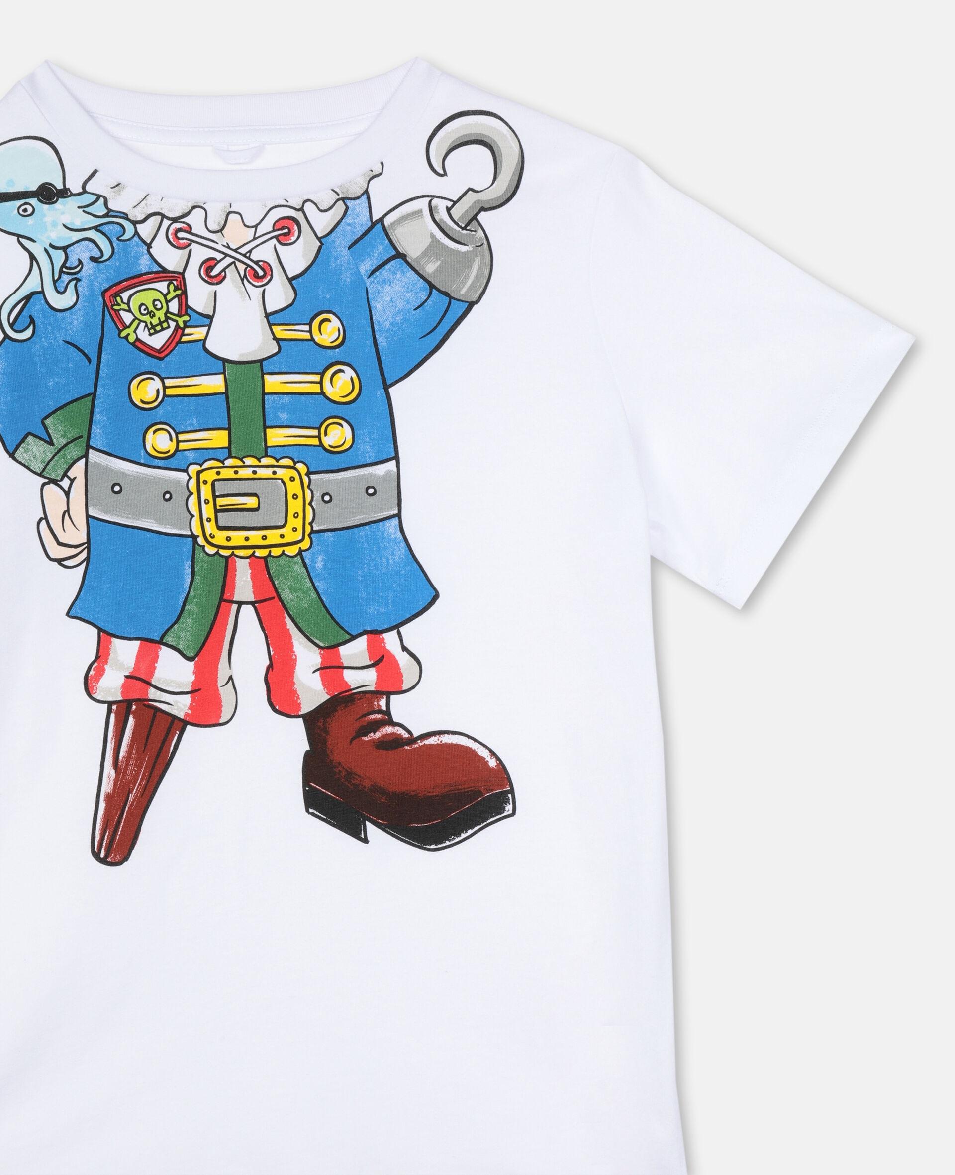 错视效果 Pirate 棉质 T 恤 -白色-large image number 2