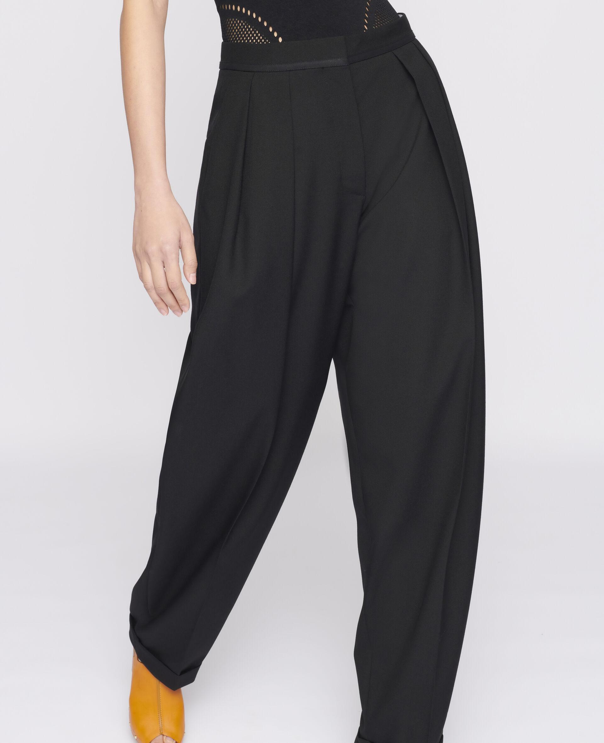 Deborah Wool Trousers-Black-large image number 3