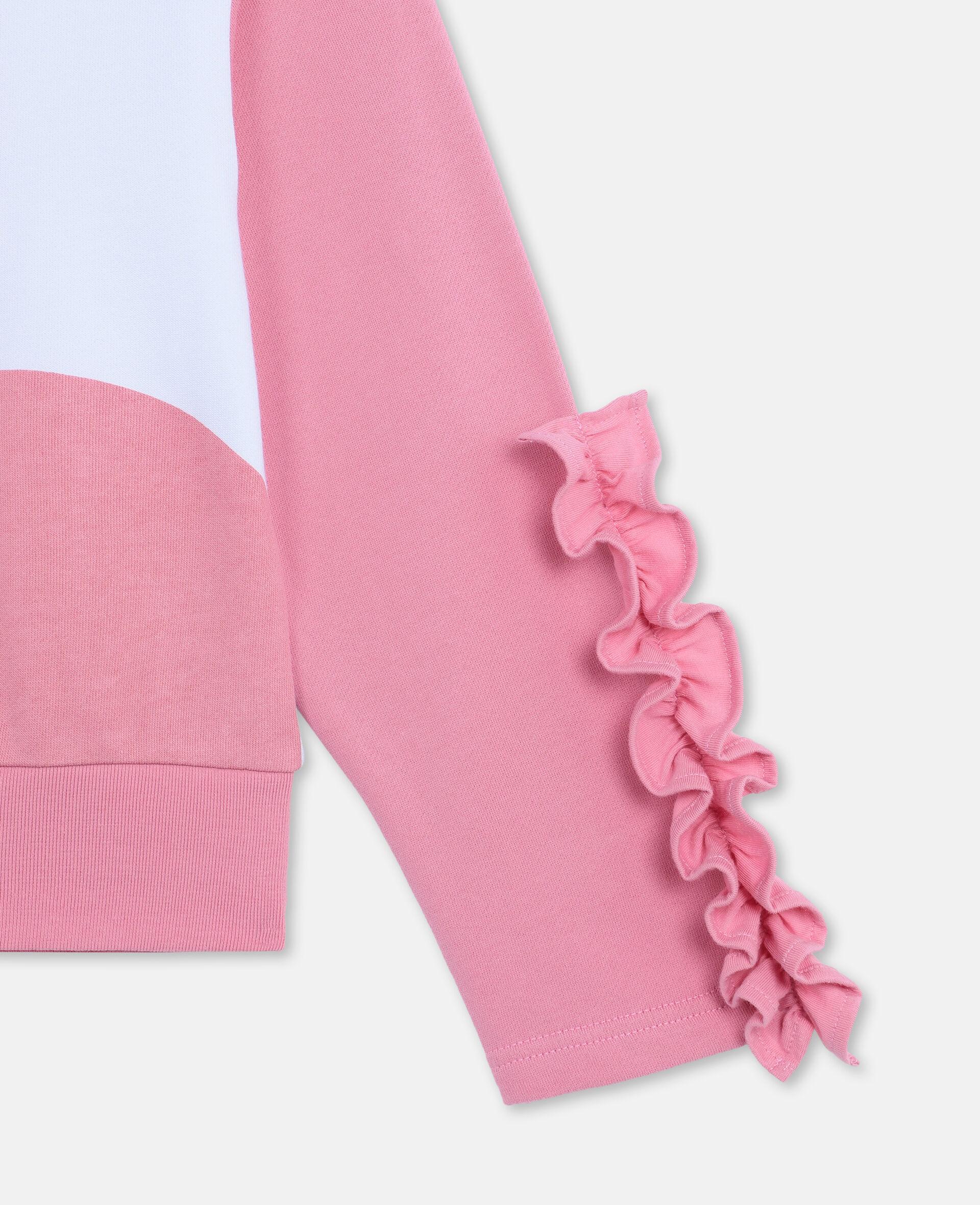 Flamingo Cotton Fleece Sweatshirt -White-large image number 2