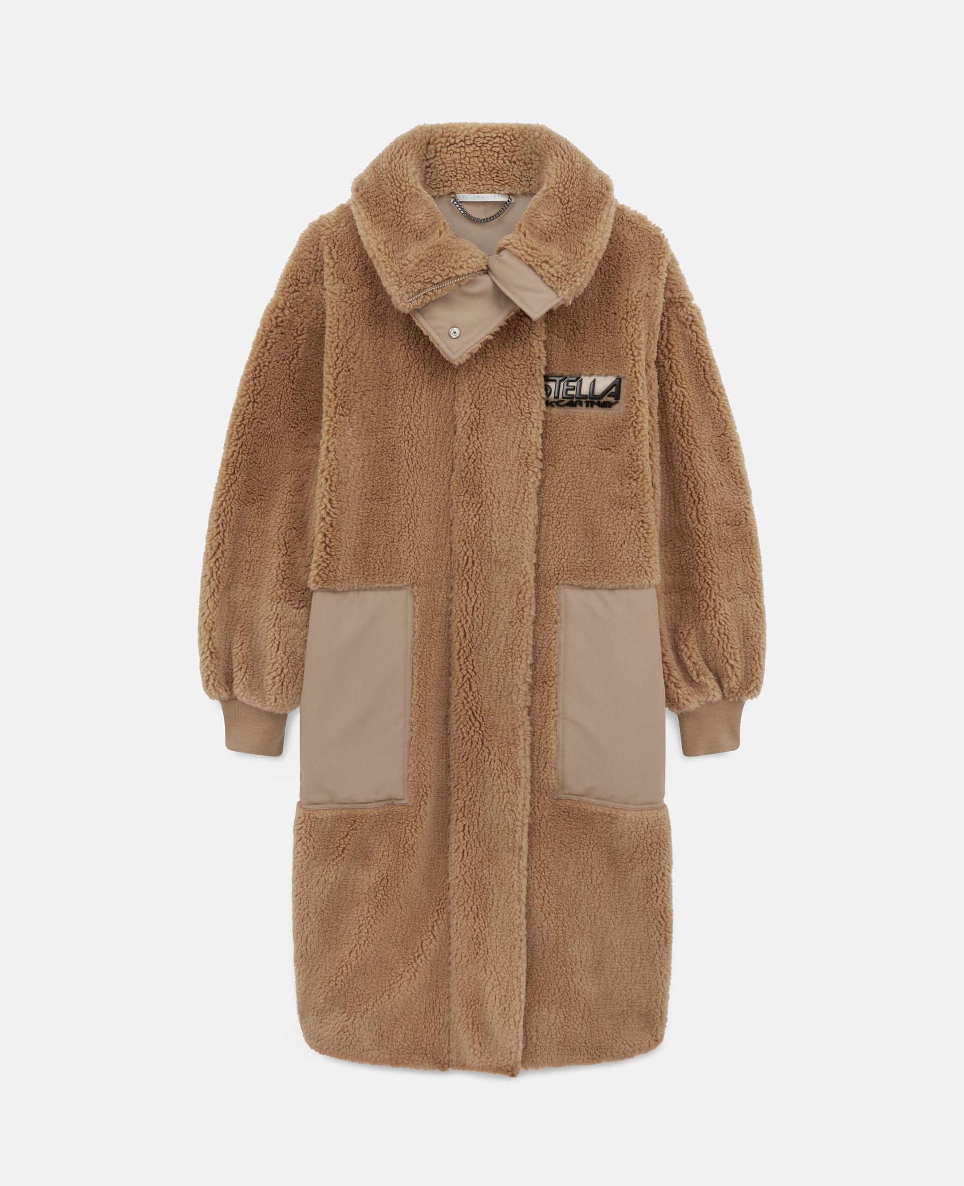 Luna Teddy Mat Coat-Brown-large image number 0