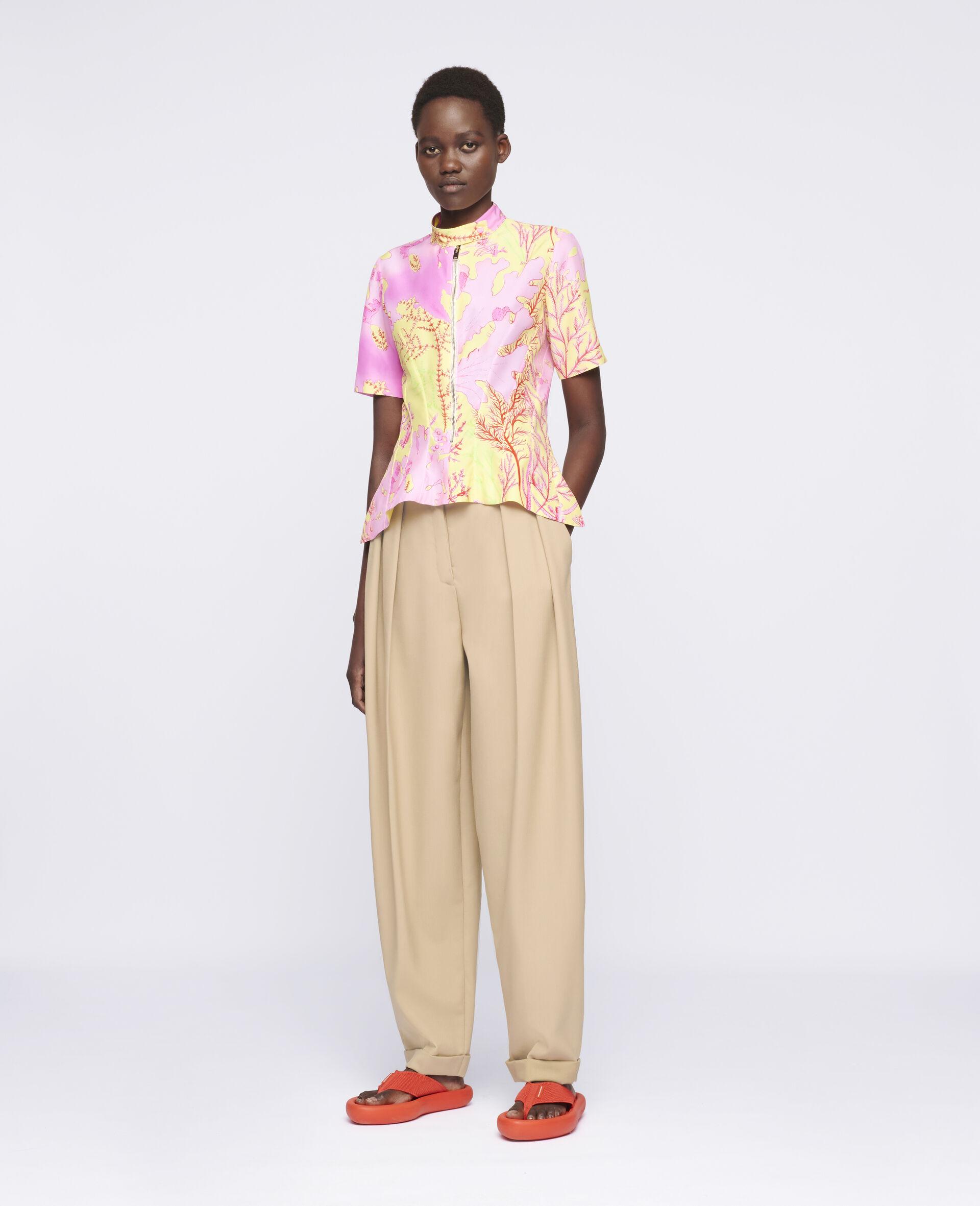 Alexandra Silk Top-Multicolour-large image number 1