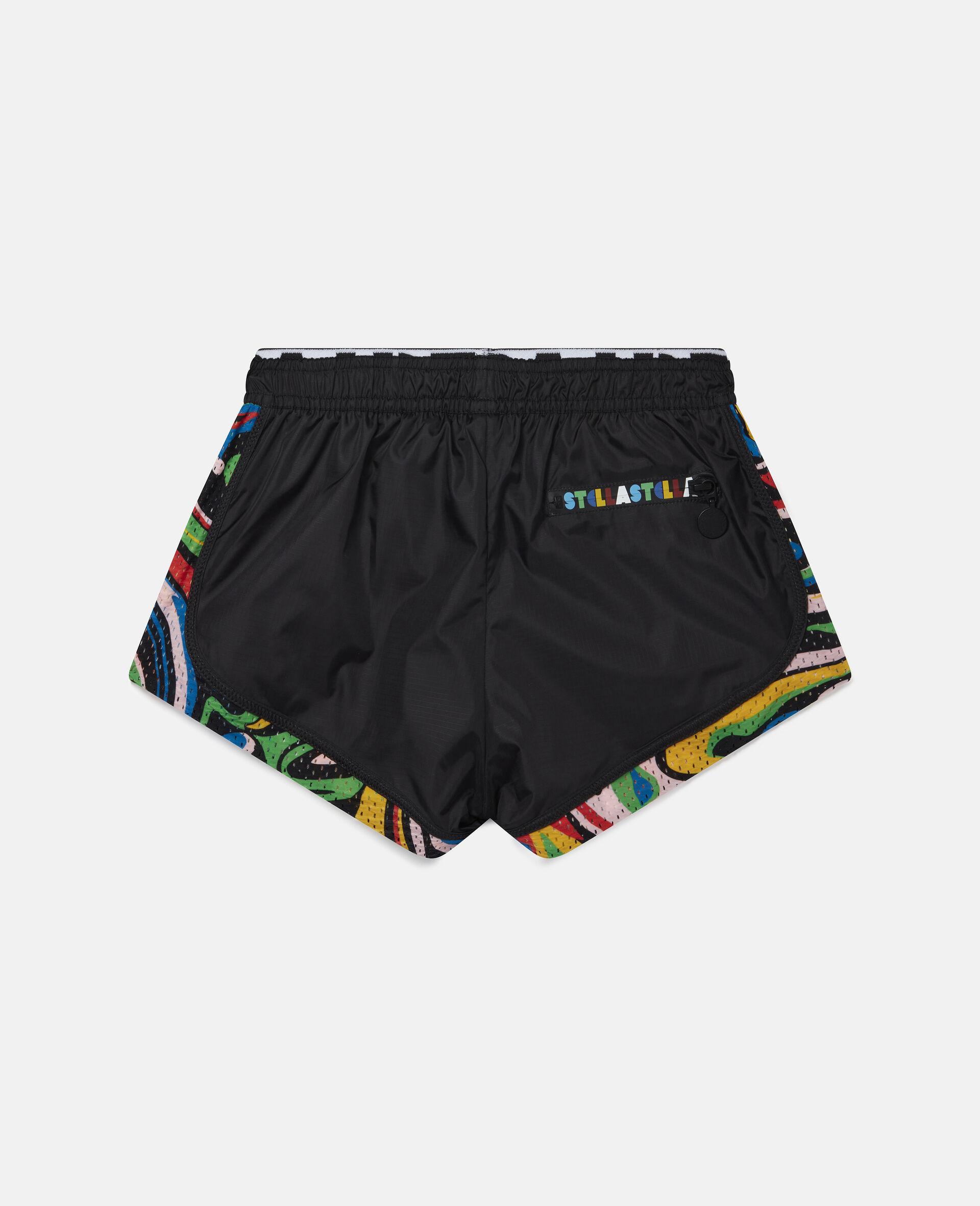Shorts Active Marmorizzati -Nero-large image number 3