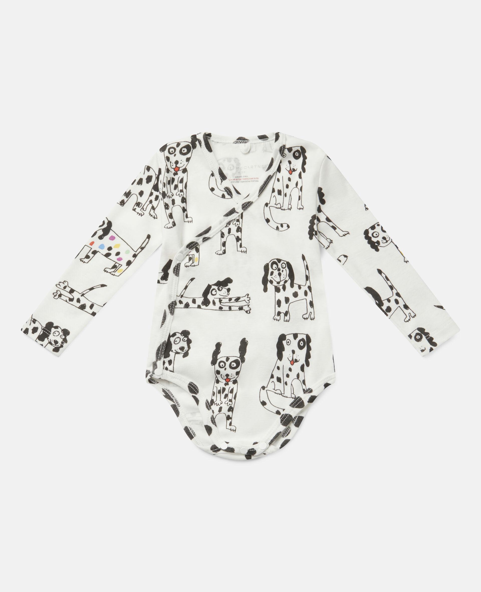 Dalmatian Jersey Rib Maternity Set-White-large image number 1