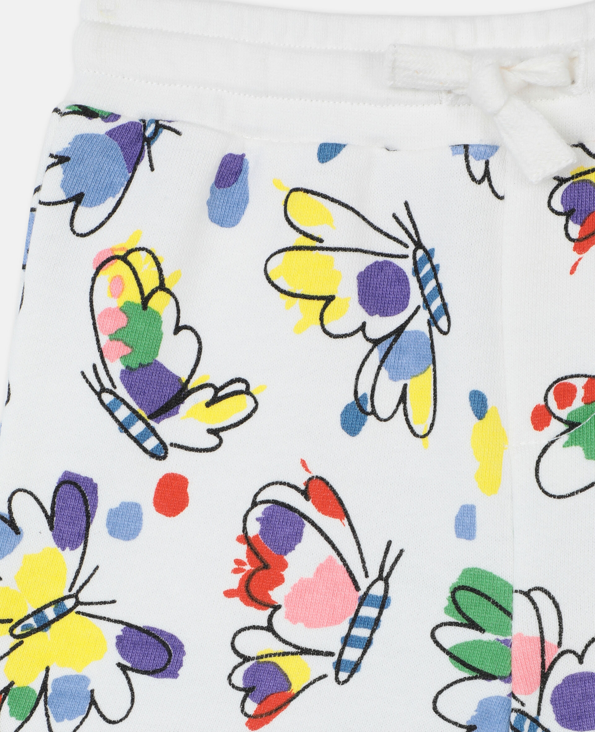 Baby Butterfly Cotton Shorts-Multicoloured-large image number 1