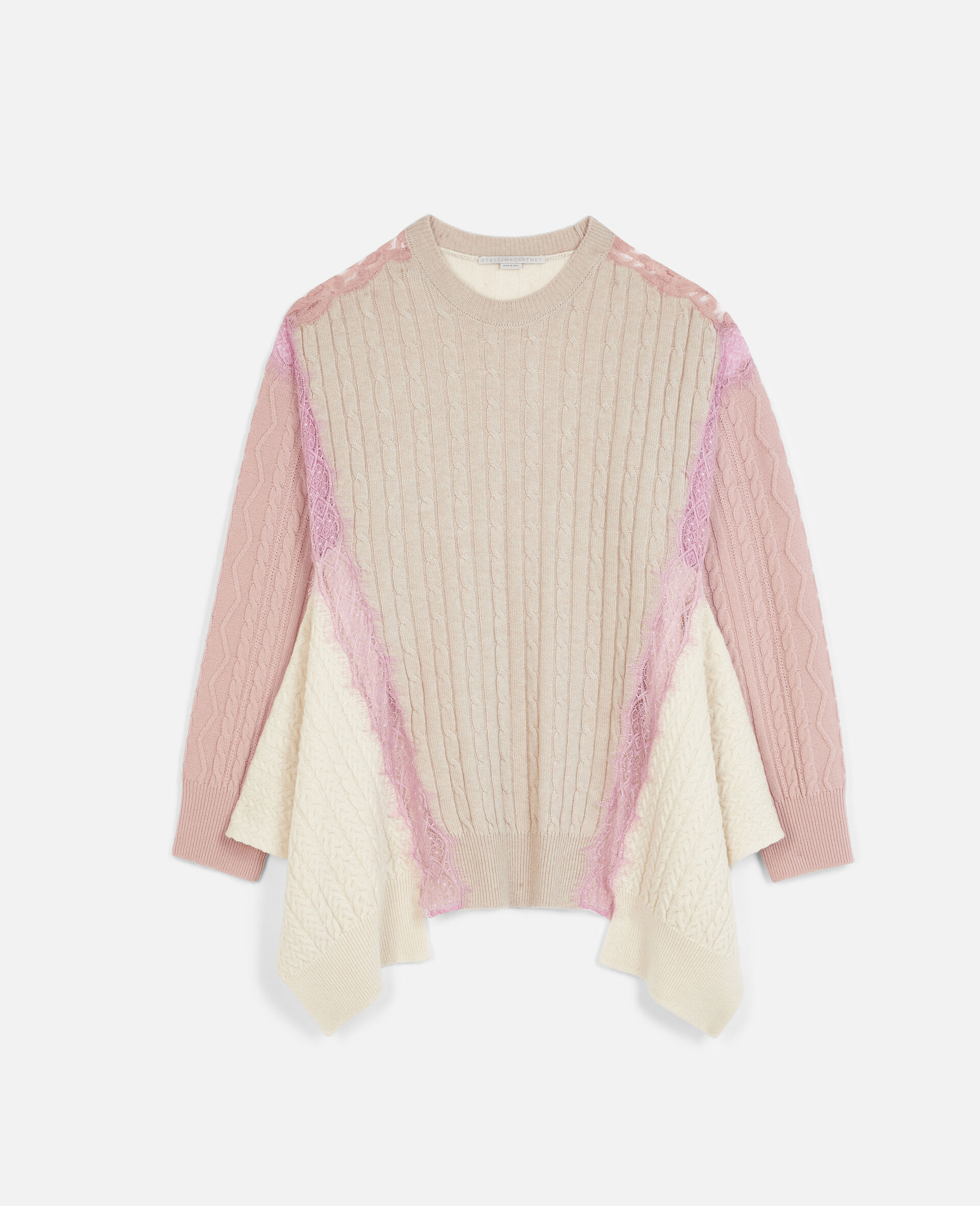 Oversized Wool Sweater -Beige-large image number 0