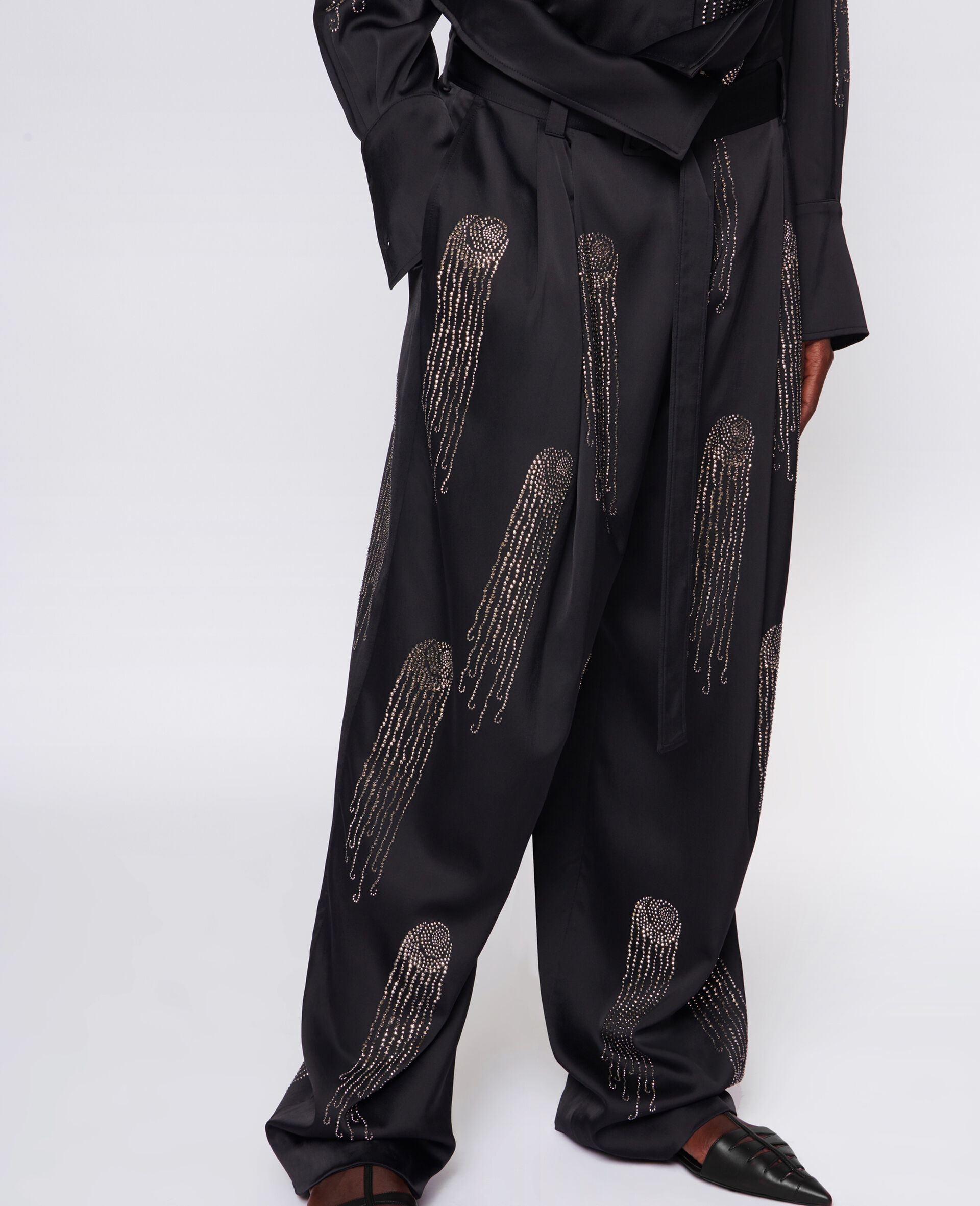 Londyn Hotfix Trousers-Black-large image number 3