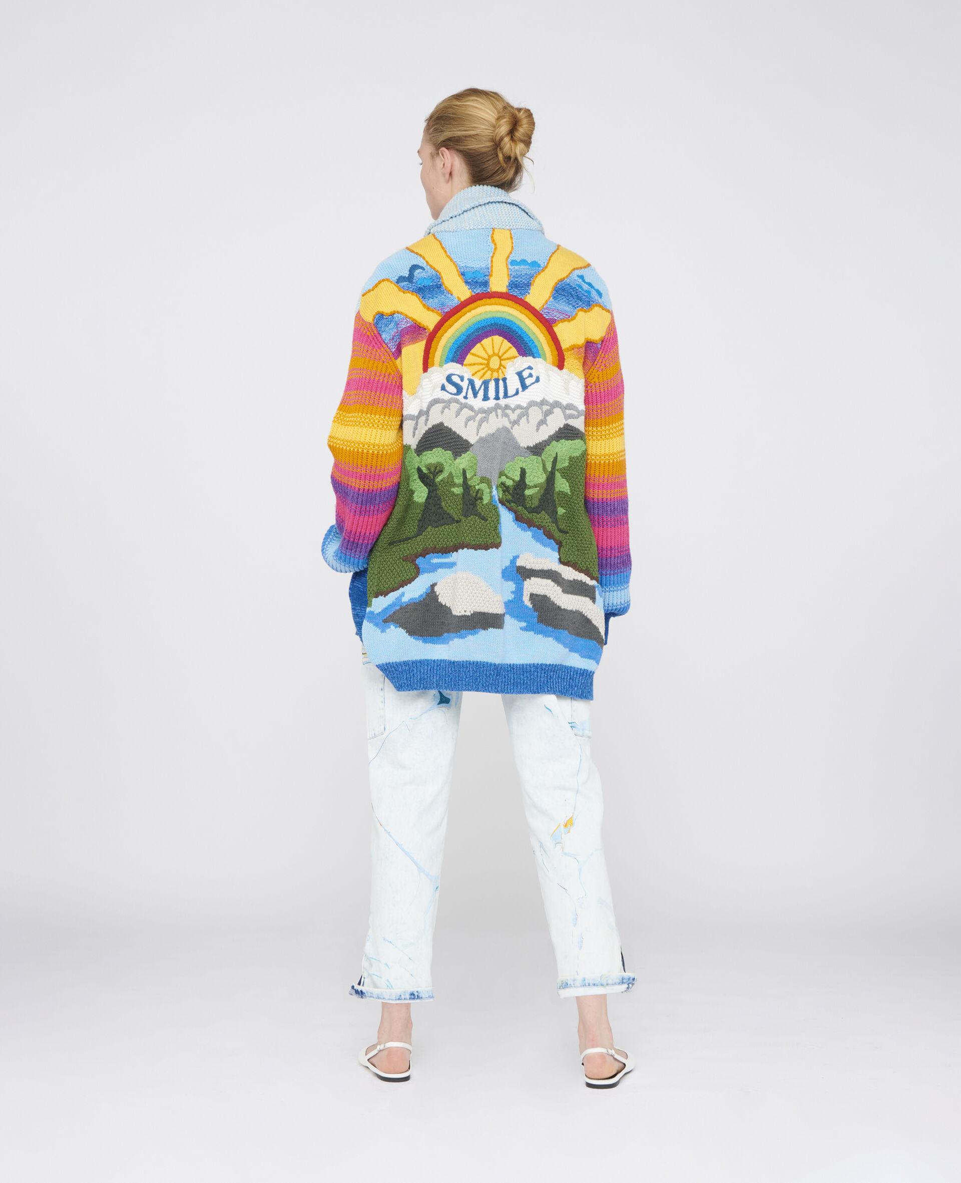 Kind Intarsia Cardigan-Multicolour-large image number 2