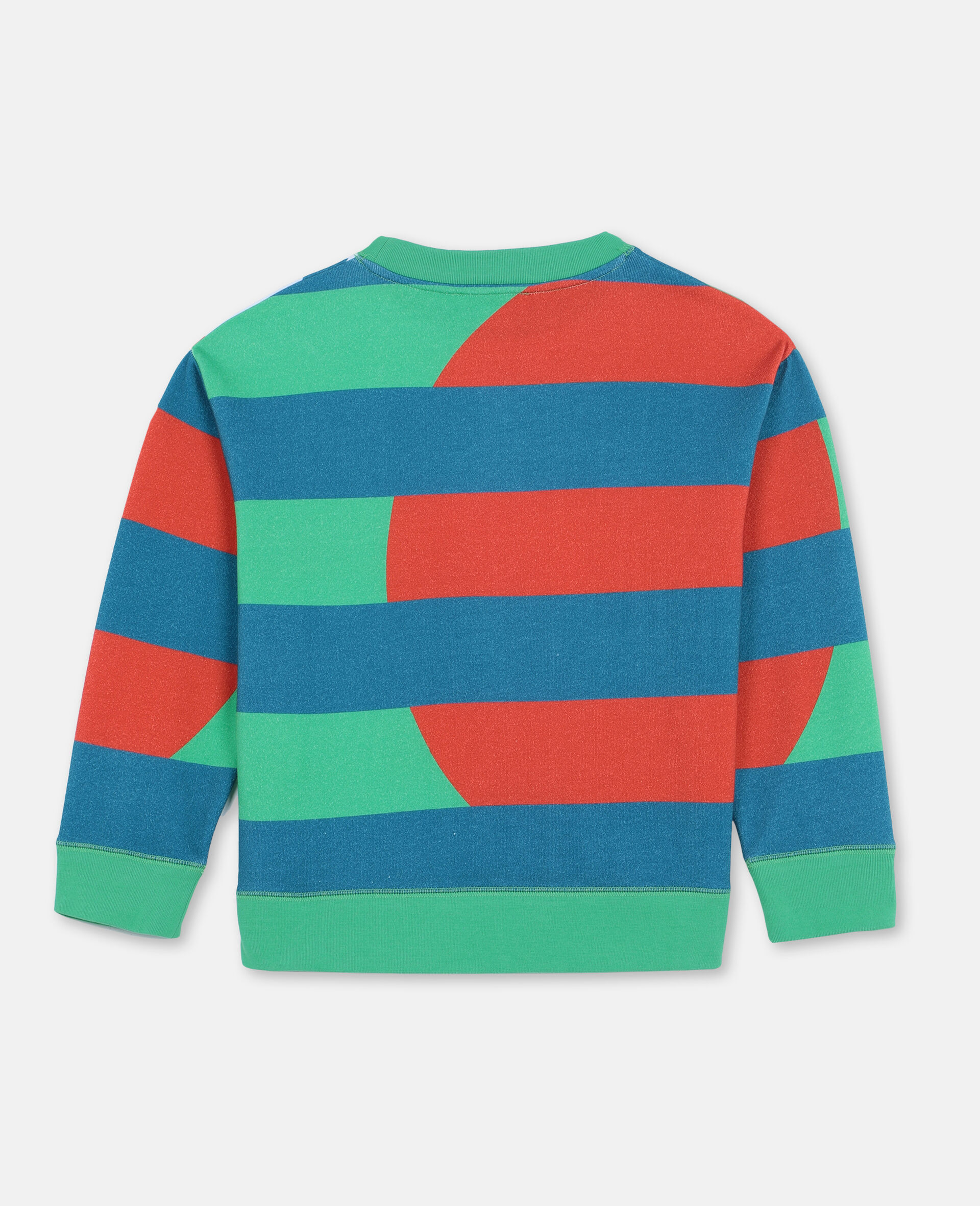 Oversize Palm Cotton Sweatshirt -Green-large image number 3
