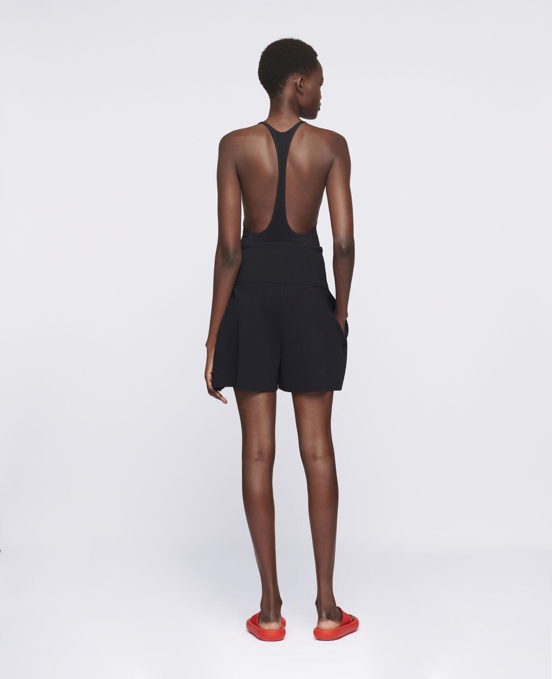 致密针织短裤-黑色-large image number 2