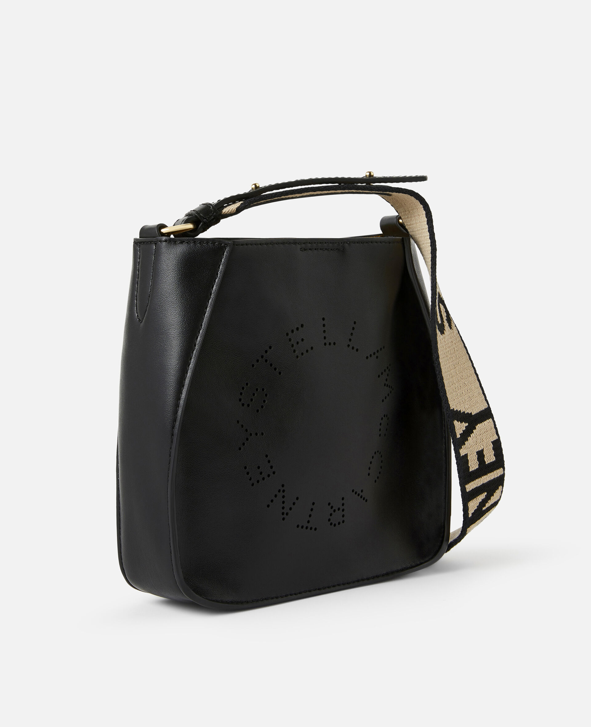 Mini Stella Logo Shoulder Bag -Black-large image number 1