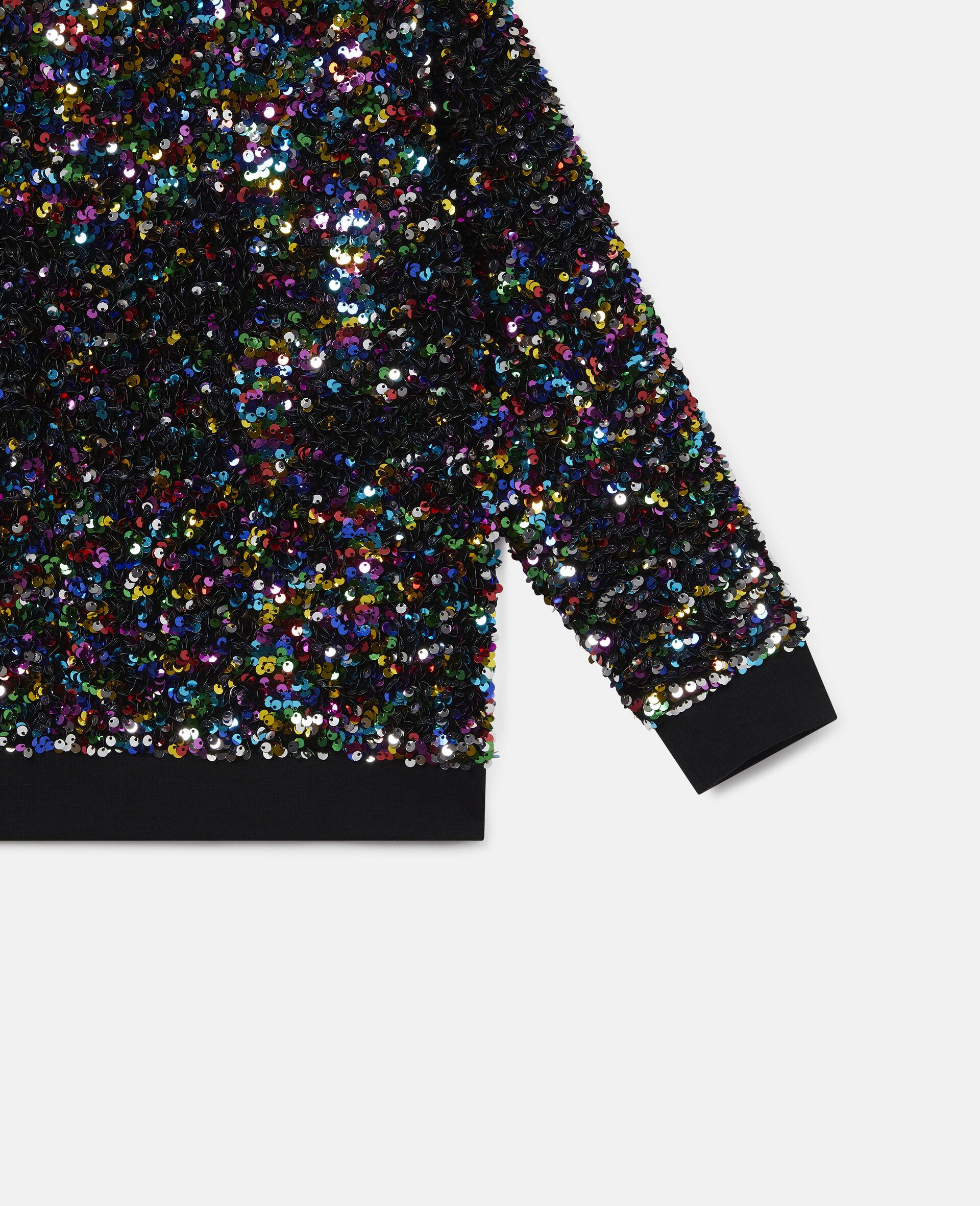 Sequined Fleece Sweatshirt -Multicolour-large image number 2