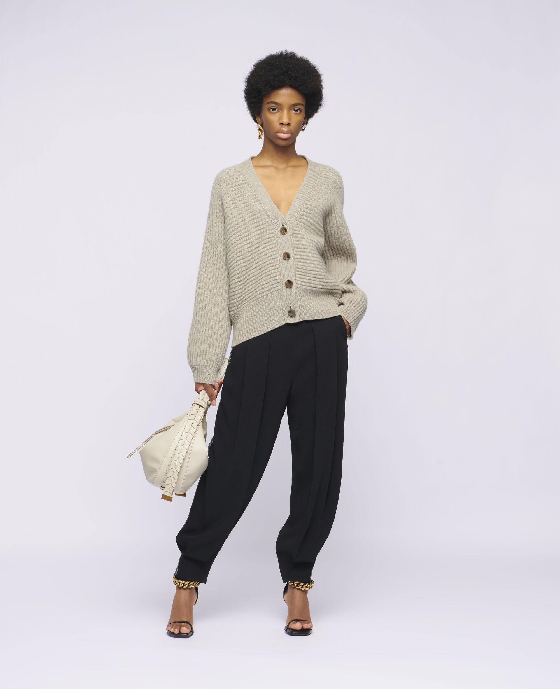 Soft Knit Cardigan -Beige-large image number 1