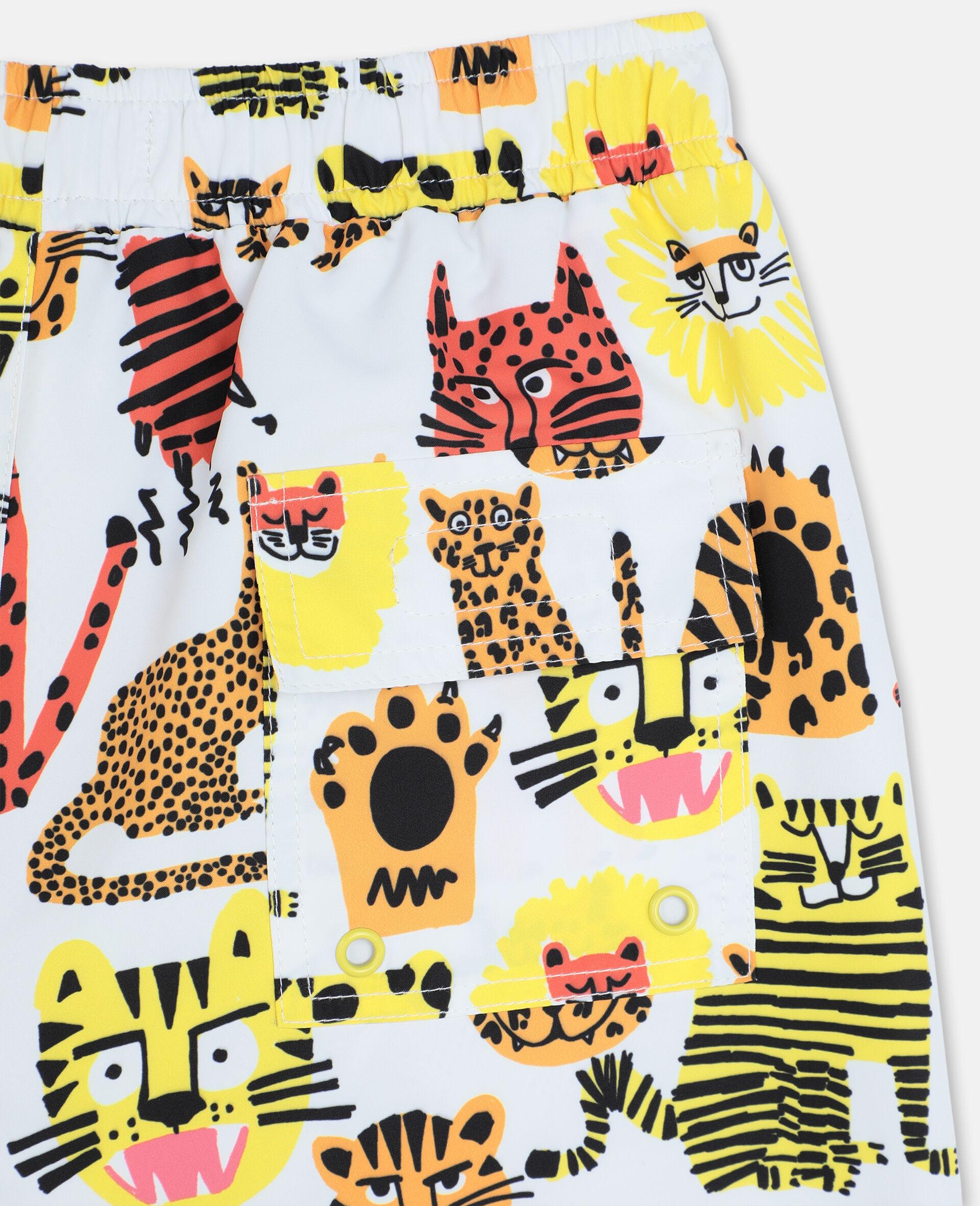 Short de bain à motif chats sauvages-Jaune-large image number 2